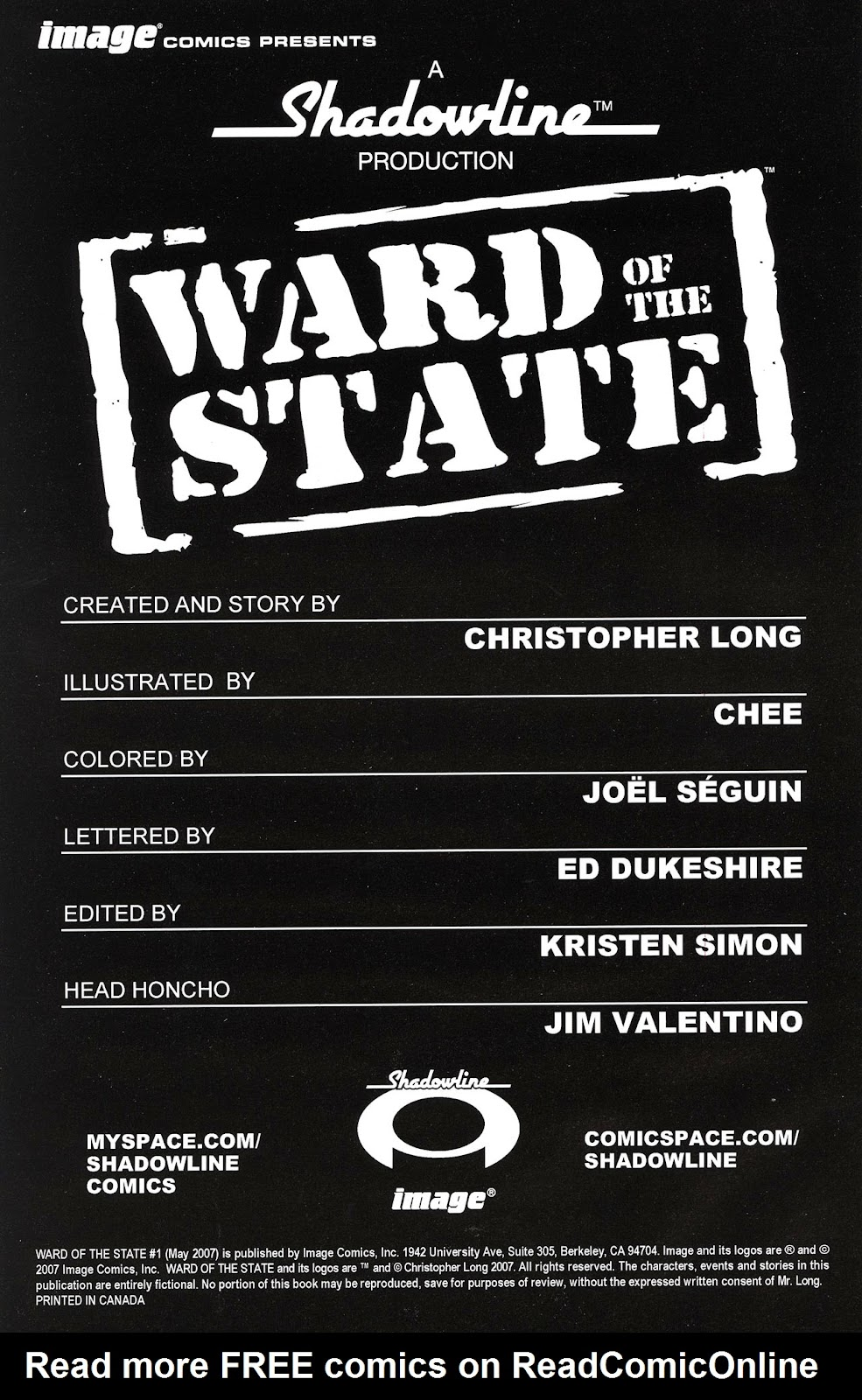 Read online Ward Of The State comic -  Issue #1 - 2