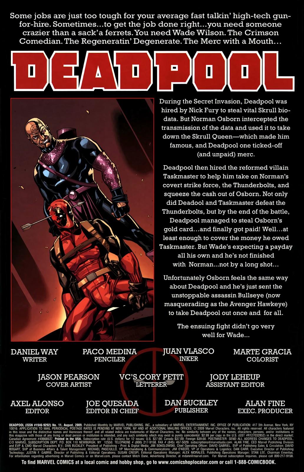 Read online Deadpool (2008) comic -  Issue #11 - 2