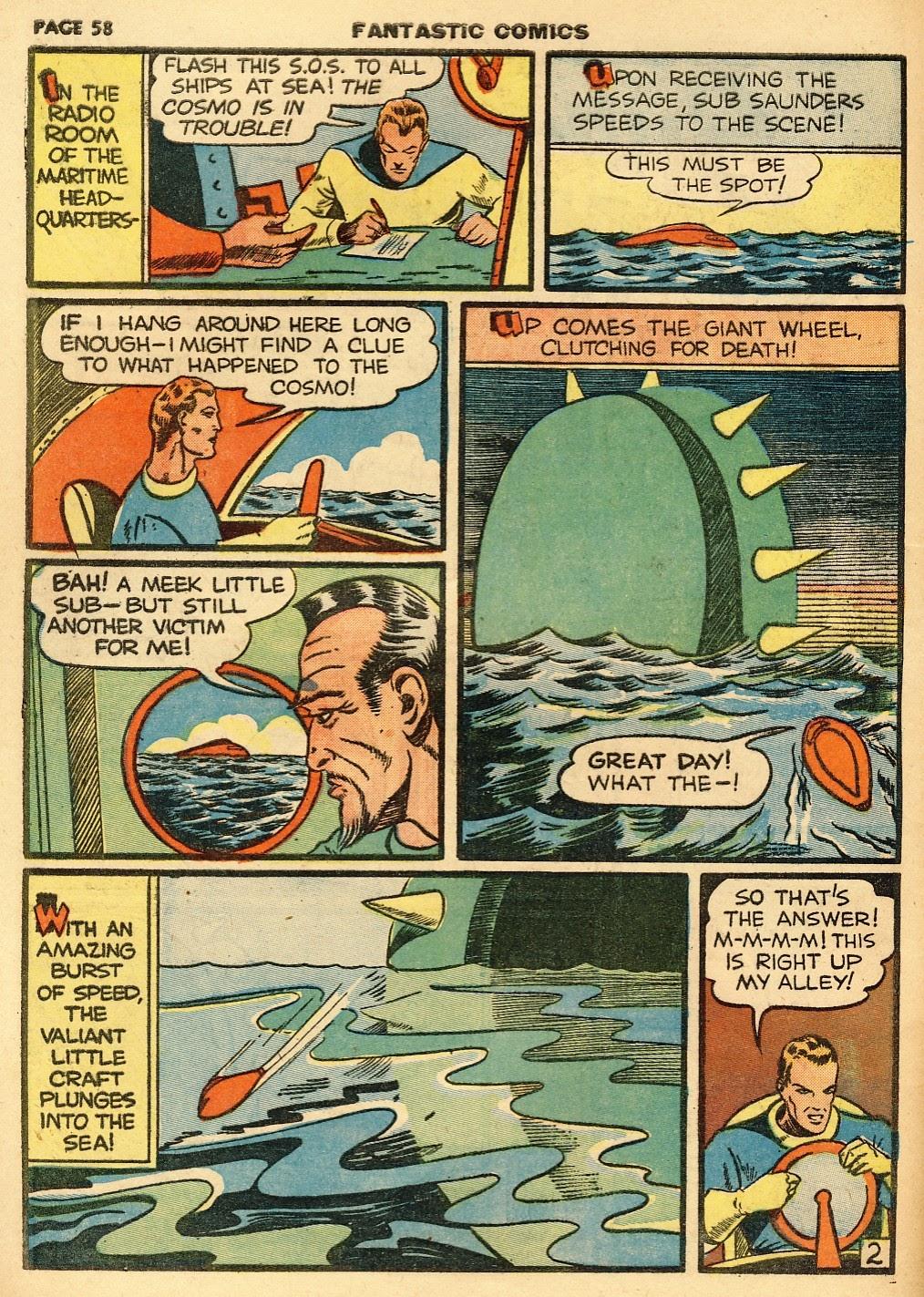 Read online Fantastic Comics comic -  Issue #10 - 59