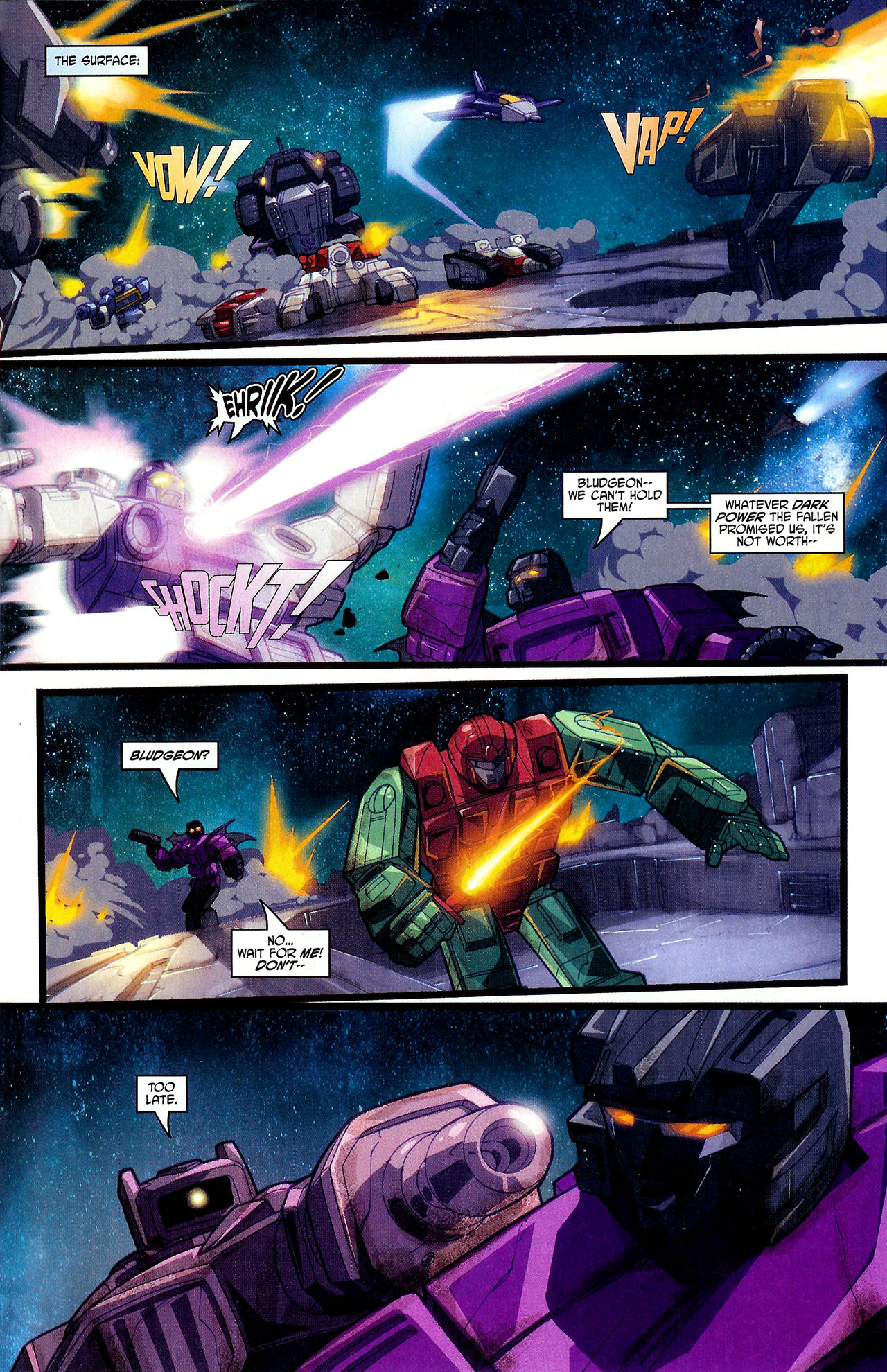 "Read online Transformers War Within: ""The Dark Ages"" comic -  Issue #6 - 11"