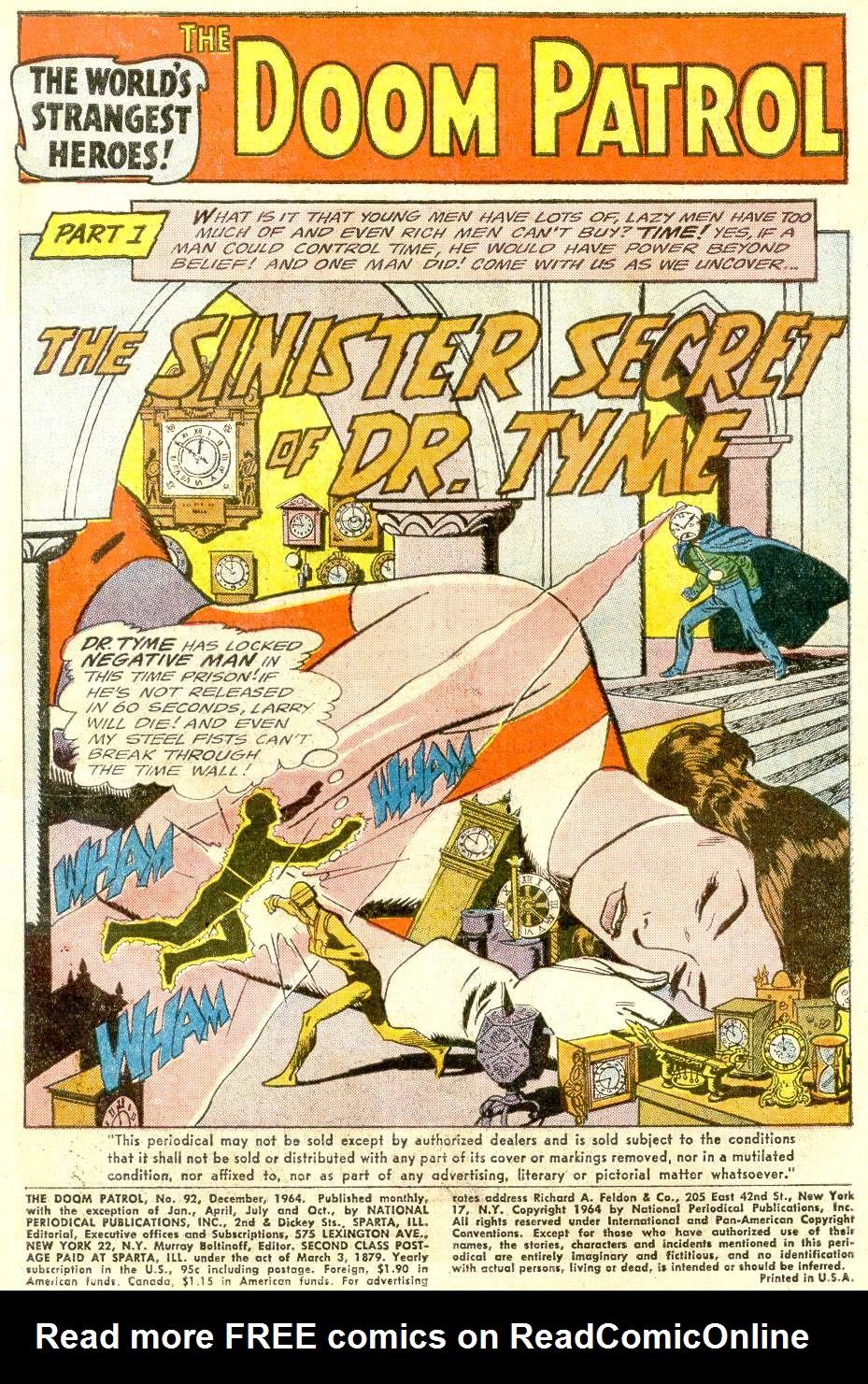 Doom Patrol (1964) issue 92 - Page 3