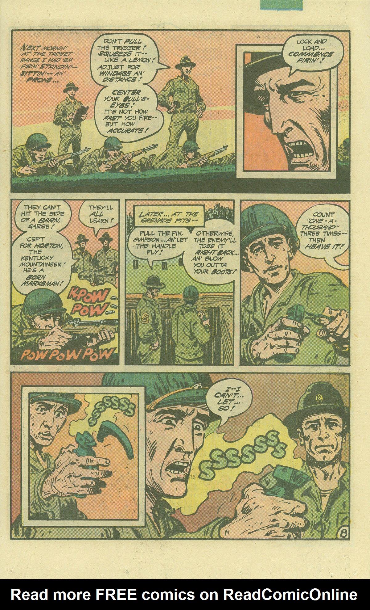 Read online Sgt. Rock comic -  Issue #392 - 8