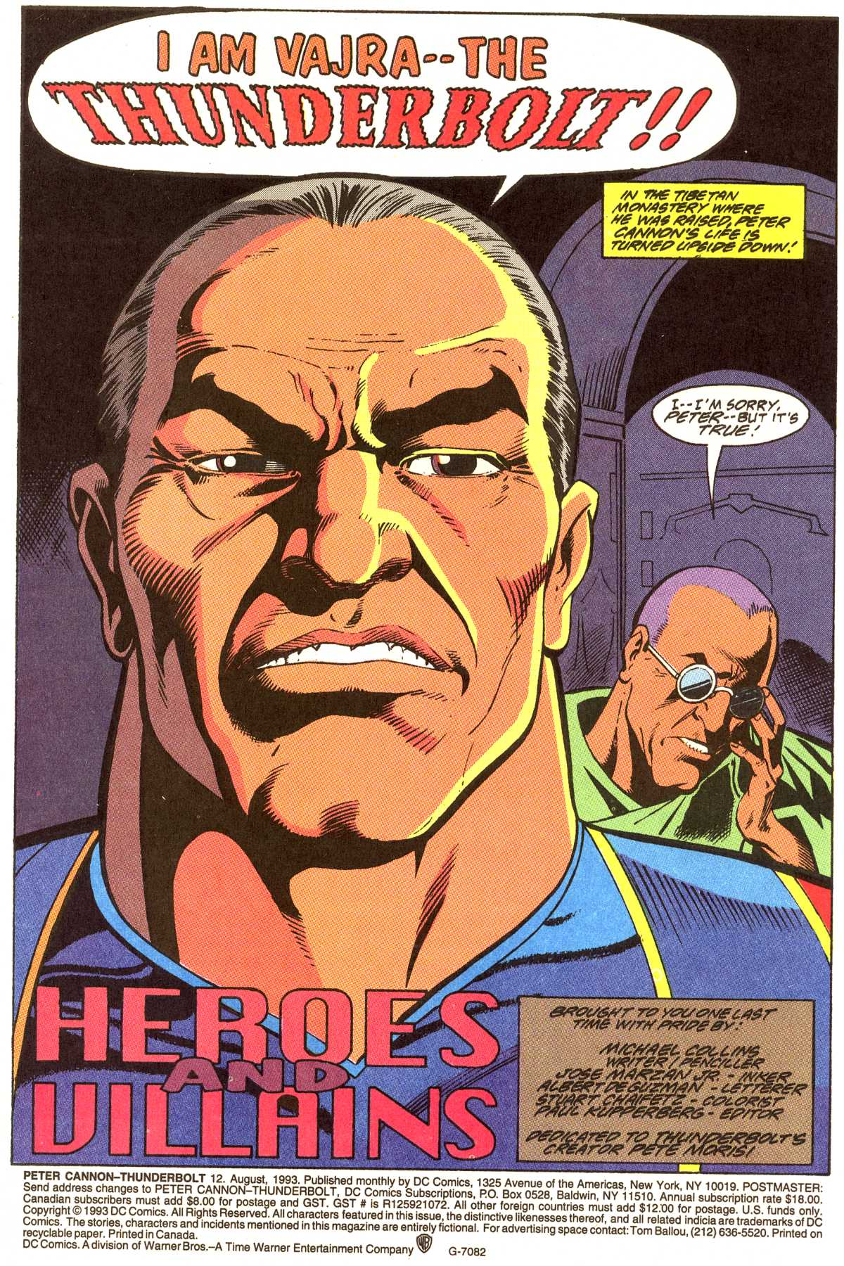 Read online Peter Cannon--Thunderbolt (1992) comic -  Issue #12 - 2
