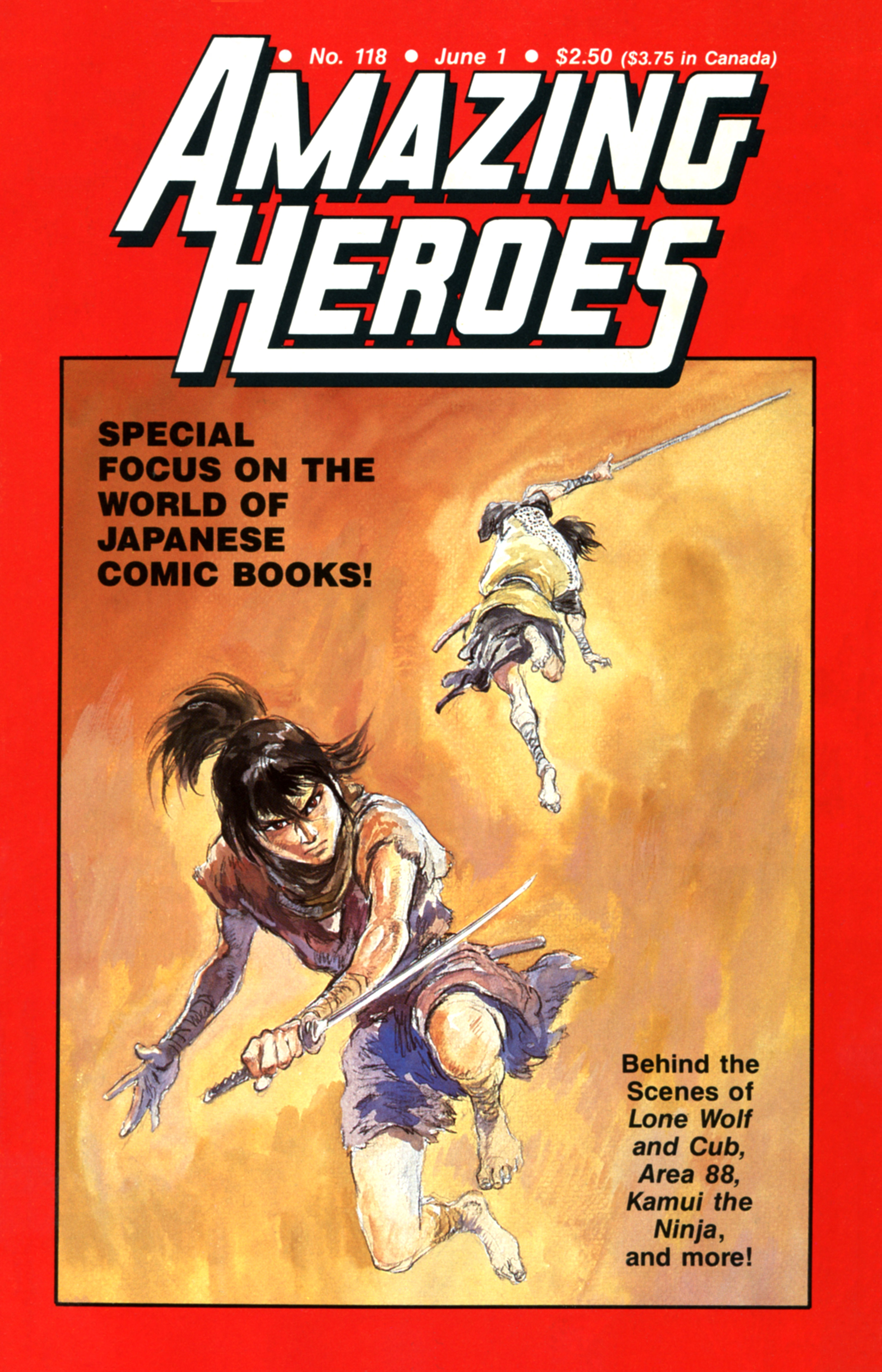 Read online Amazing Heroes comic -  Issue #118 - 1