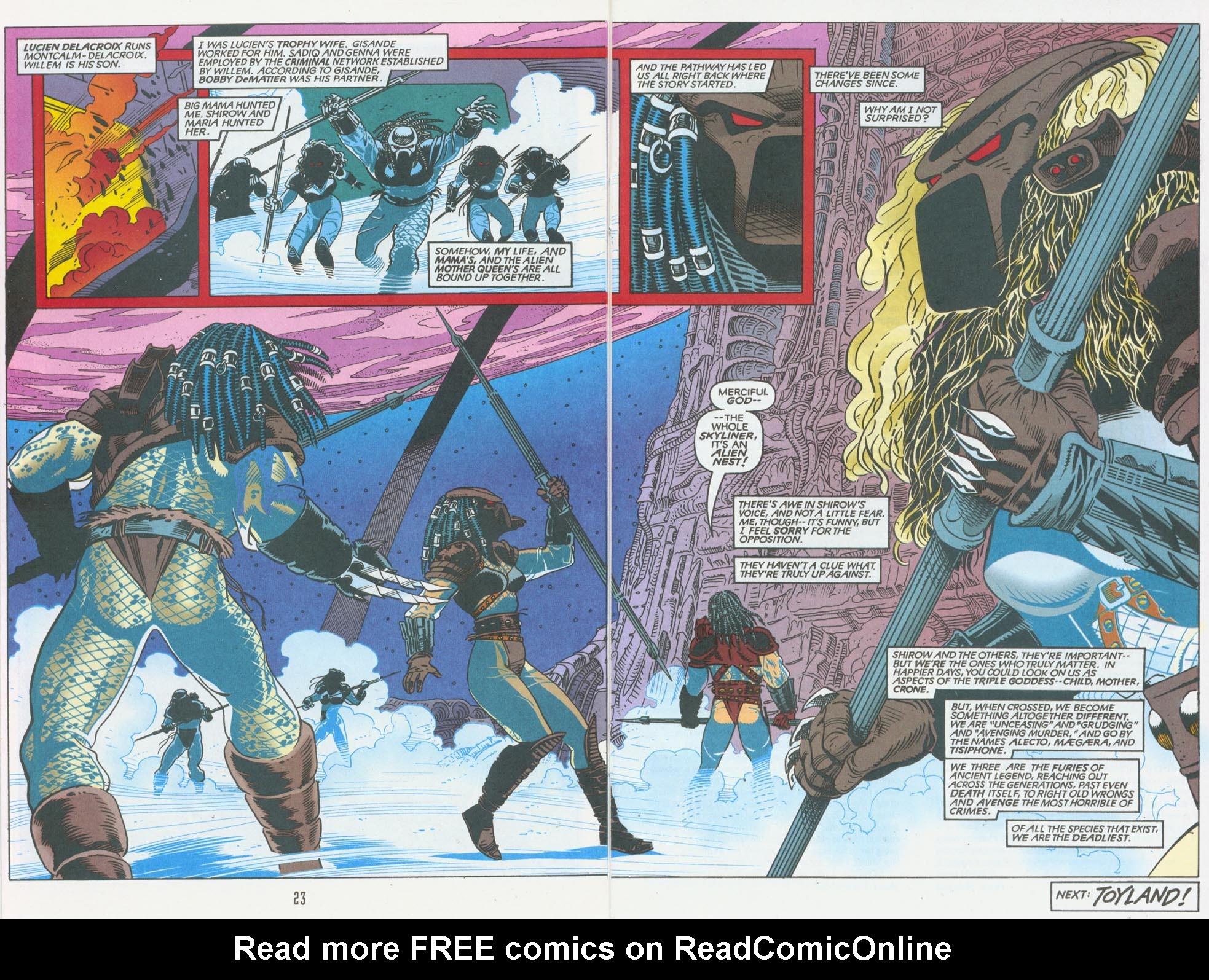 Read online Aliens/Predator: The Deadliest of the Species comic -  Issue #10 - 24