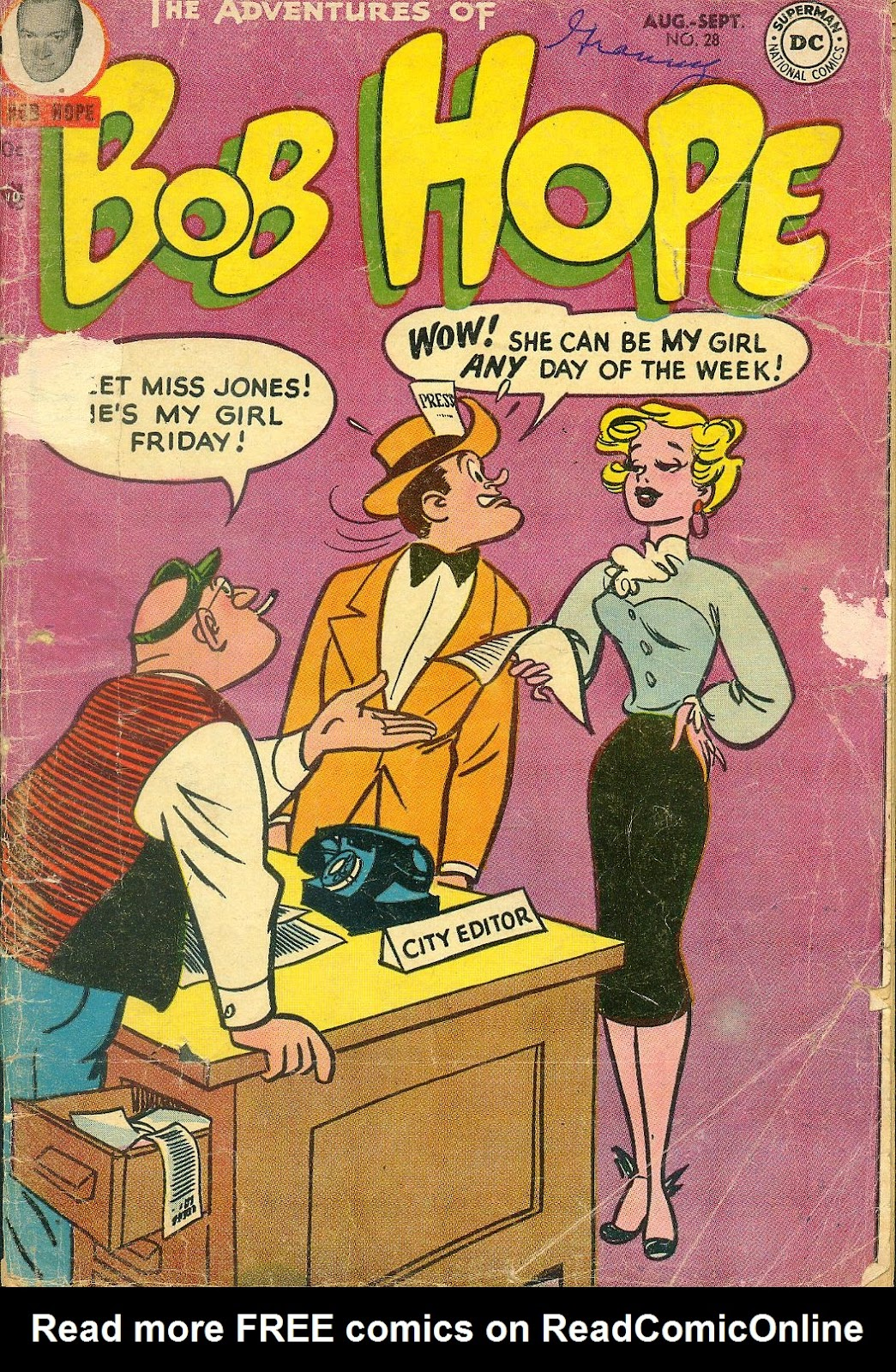 The Adventures of Bob Hope issue 28 - Page 1