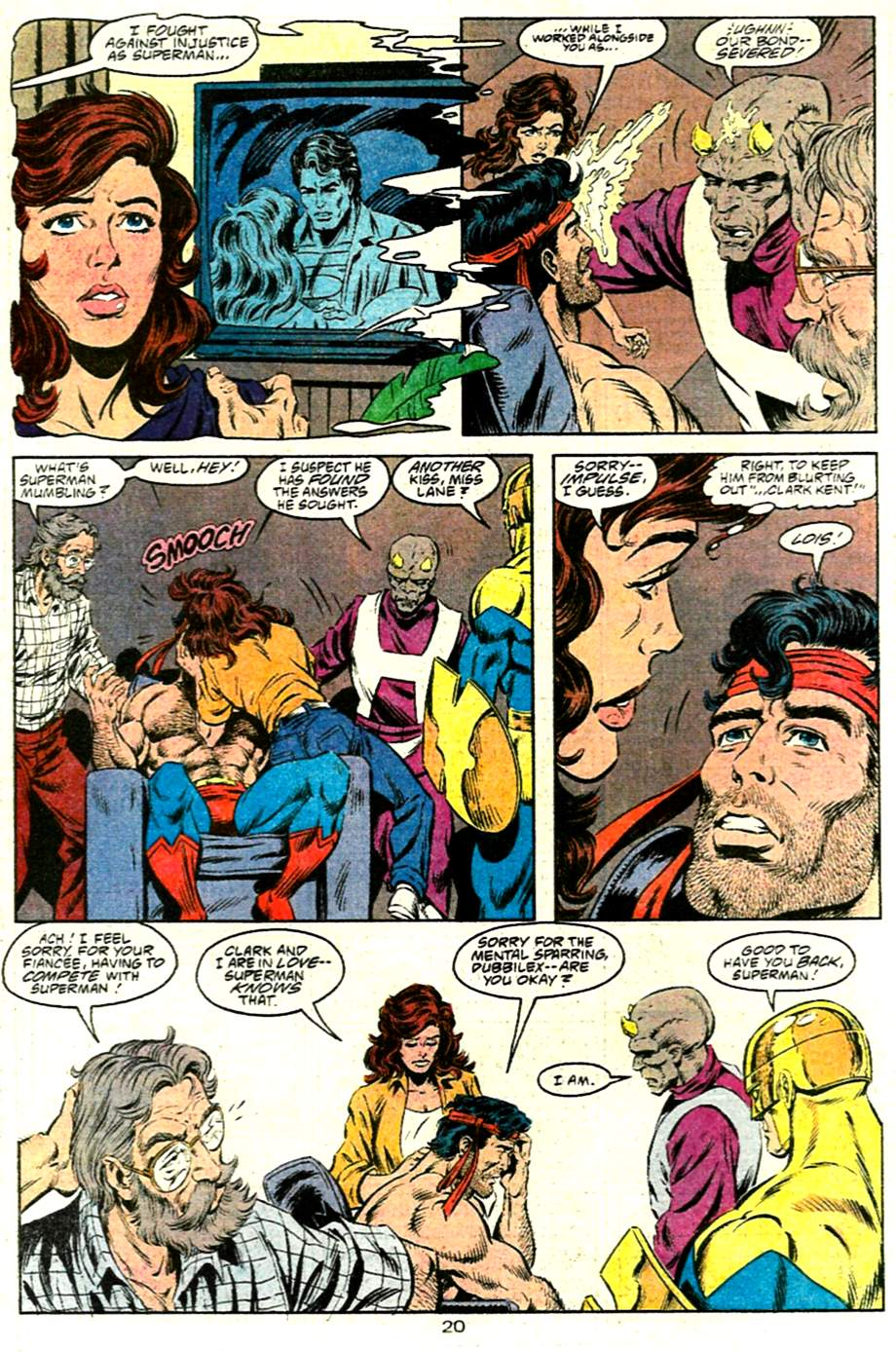 Read online Adventures of Superman (1987) comic -  Issue #485 - 21