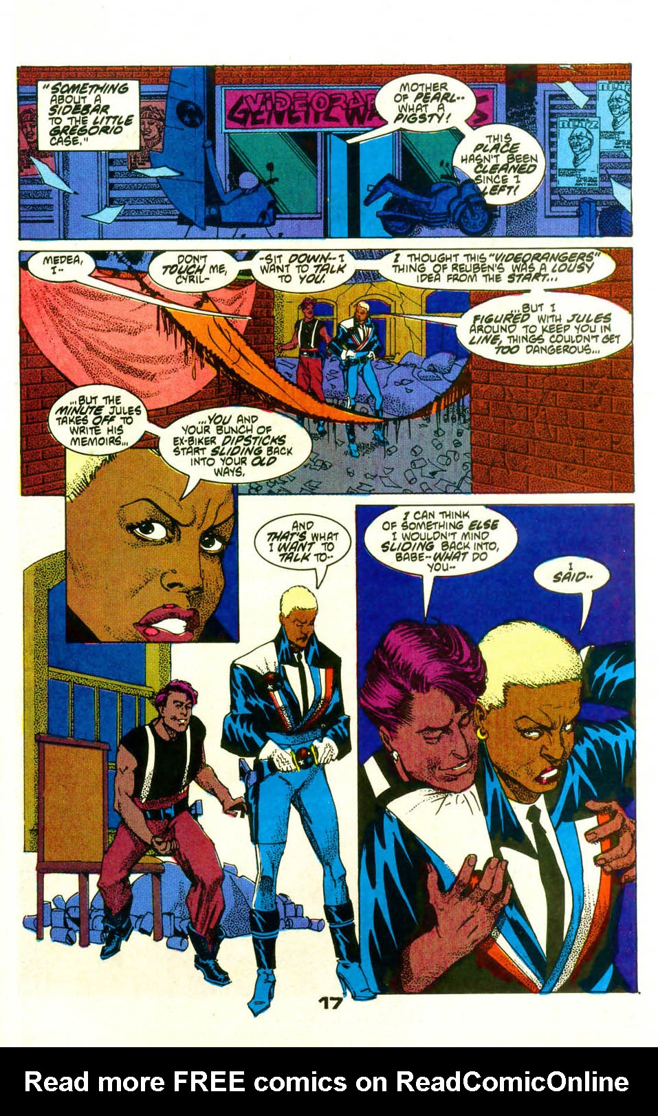 Read online American Flagg! comic -  Issue #19 - 20
