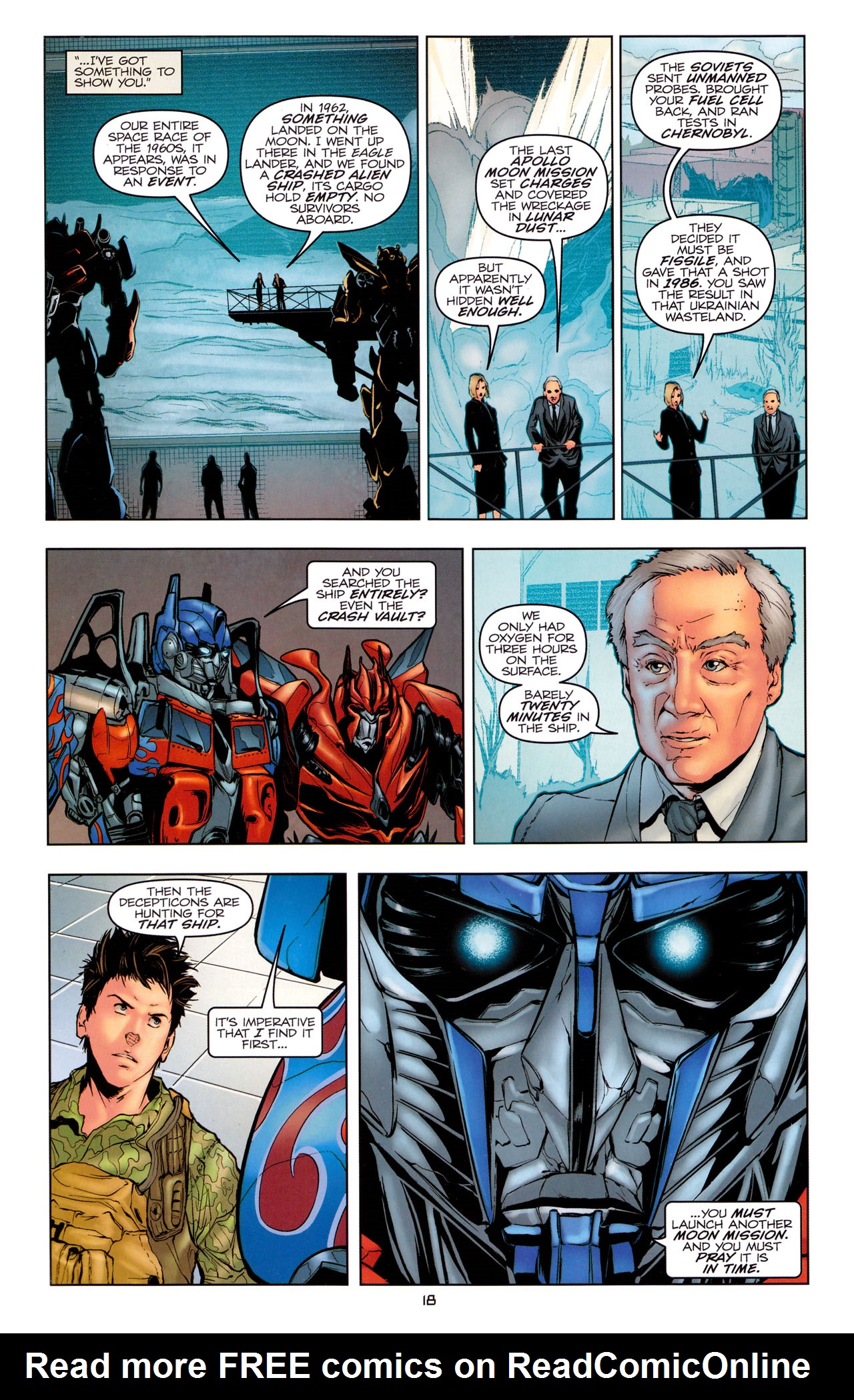 Read online Transformers: Dark of the Moon Movie Adaptation comic -  Issue #1 - 20