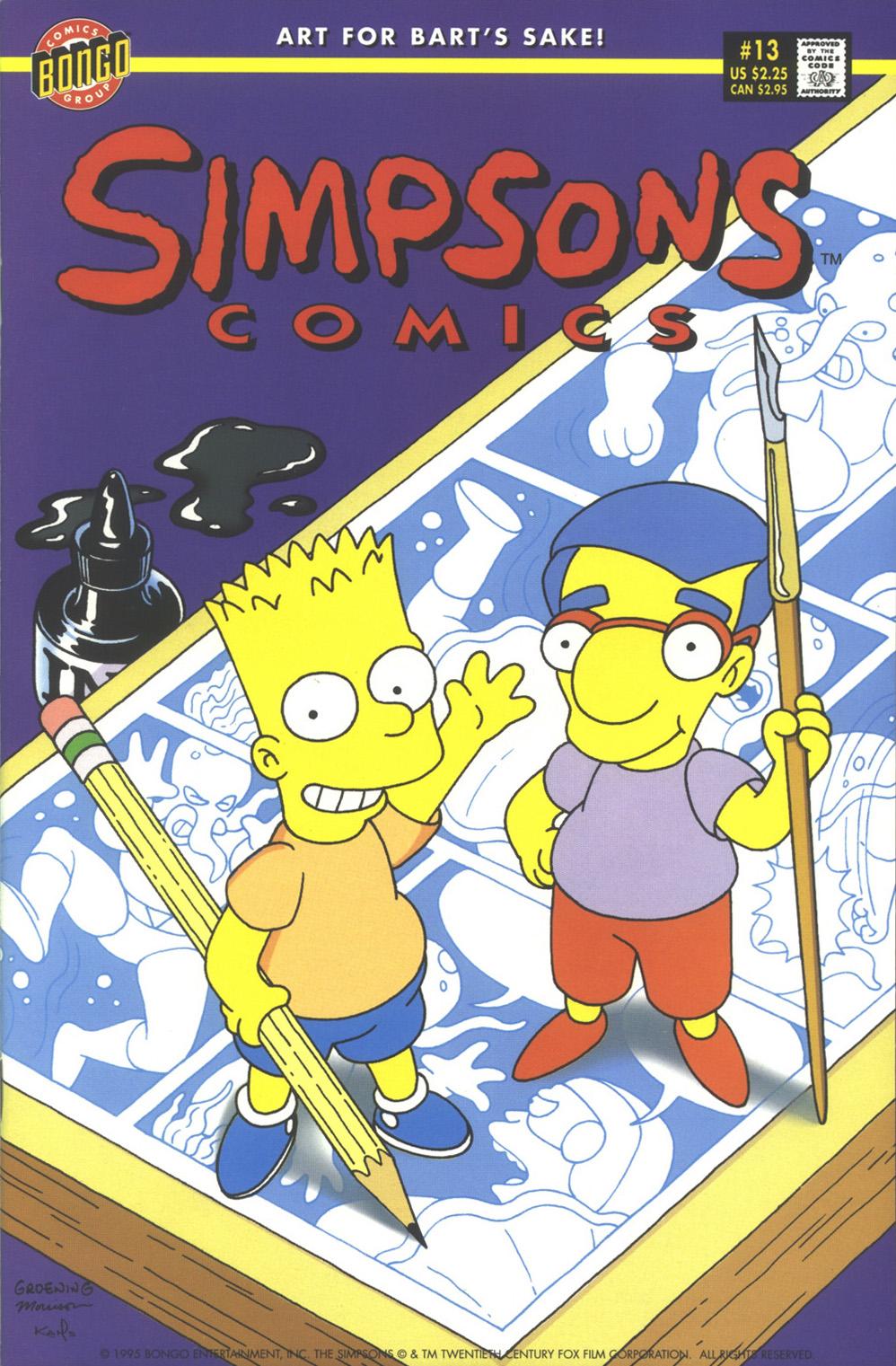 Read online Simpsons Comics comic -  Issue #13 - 1