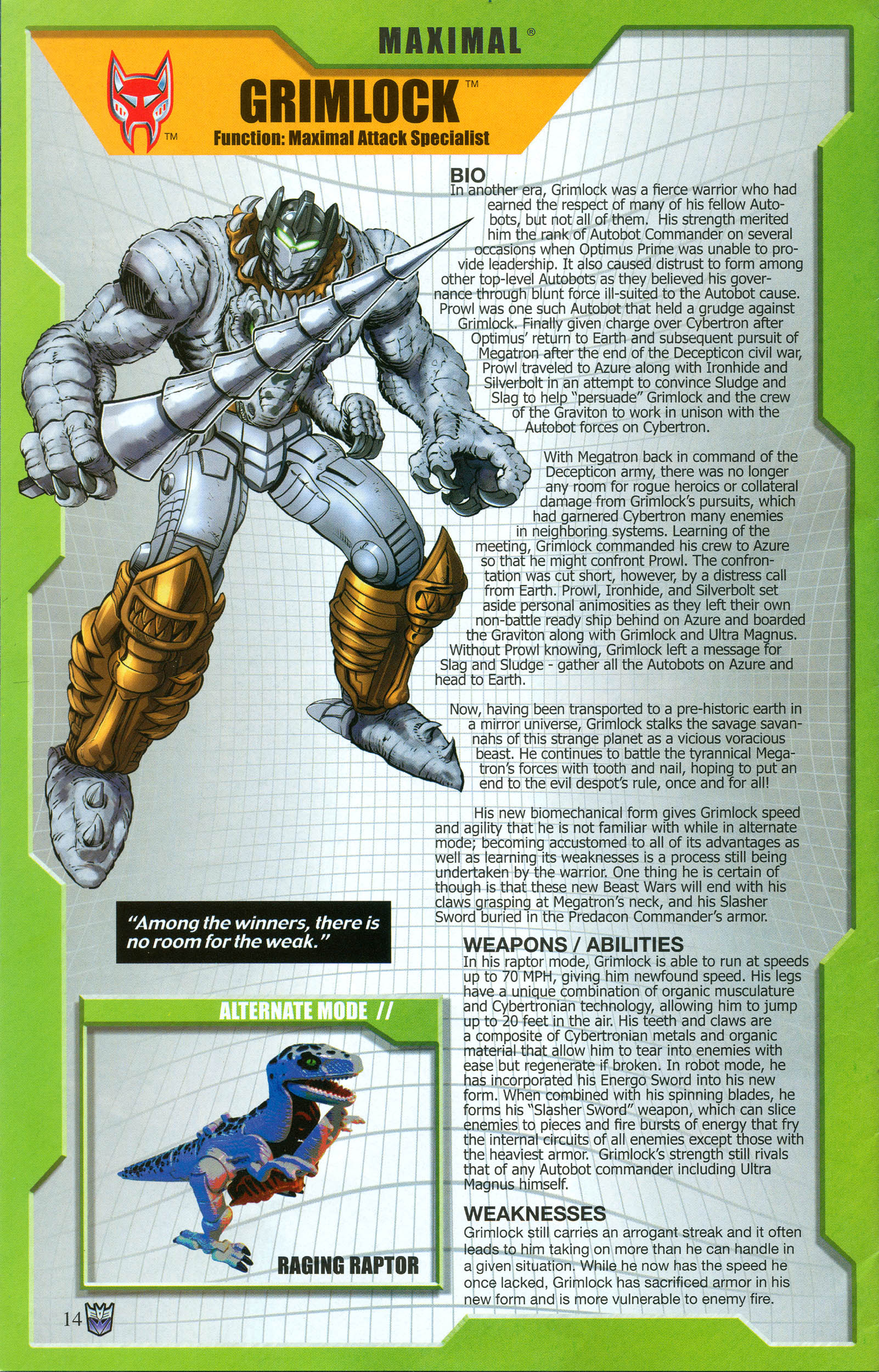 Read online Transformers: Collectors' Club comic -  Issue #50 - 14