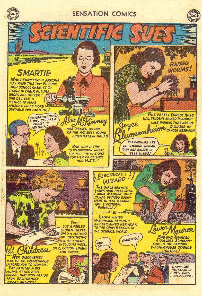 Read online Sensation (Mystery) Comics comic -  Issue #105 - 40