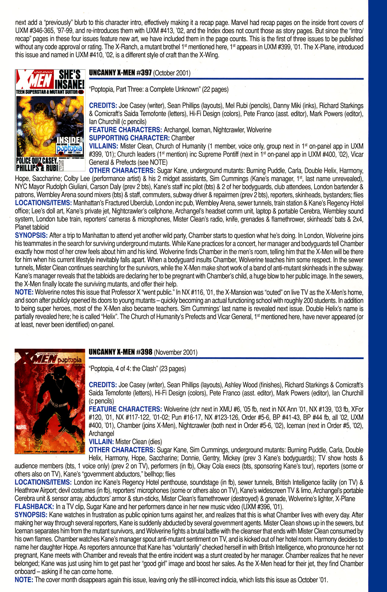 Read online Official Index to the Marvel Universe comic -  Issue #10 - 59