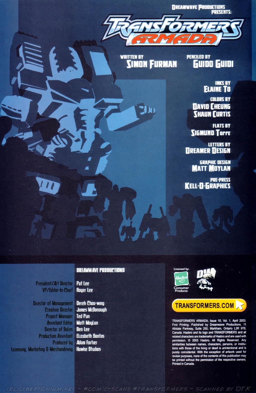 Read online Transformers Armada comic -  Issue #10 - 2