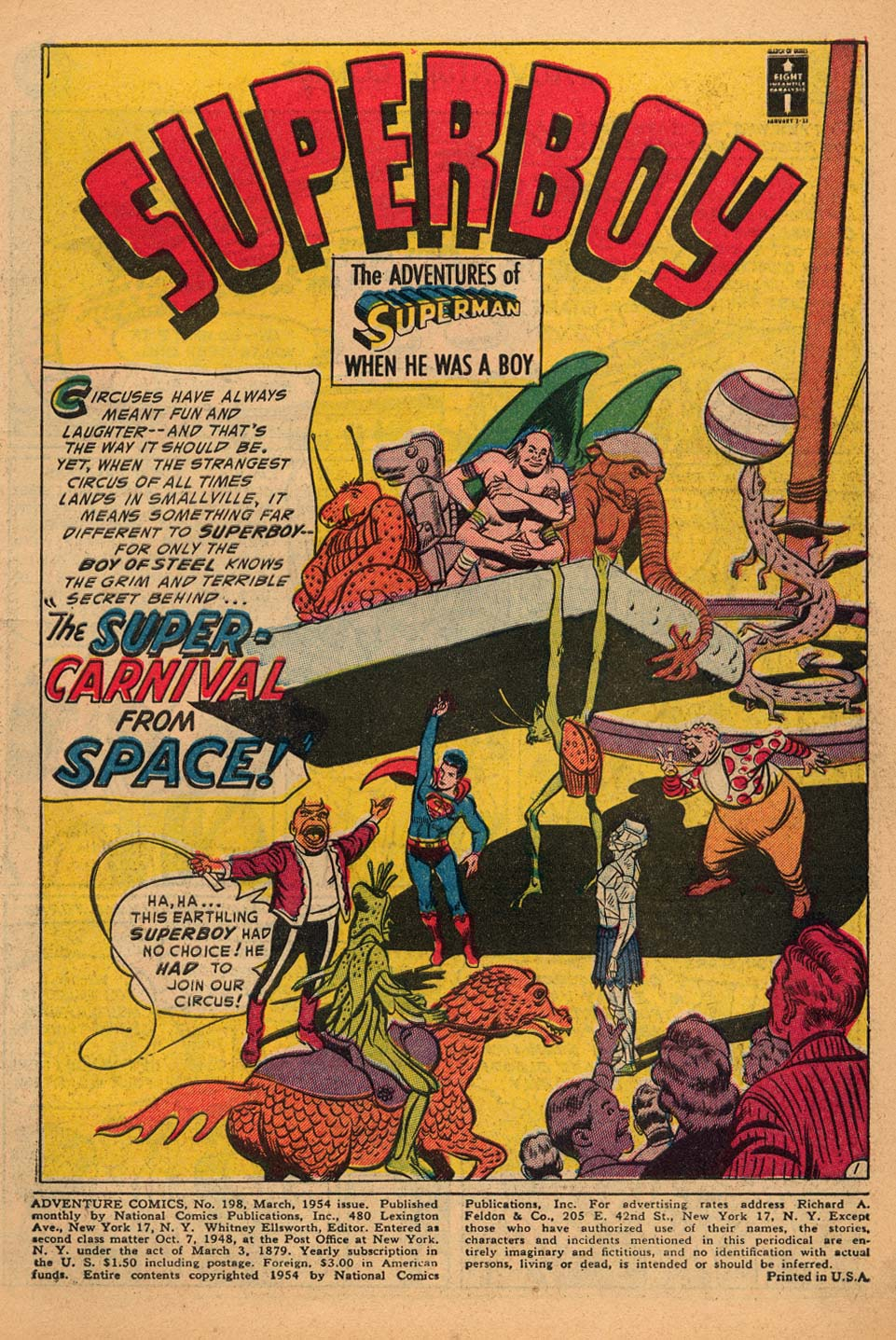 Read online Adventure Comics (1938) comic -  Issue #198 - 3