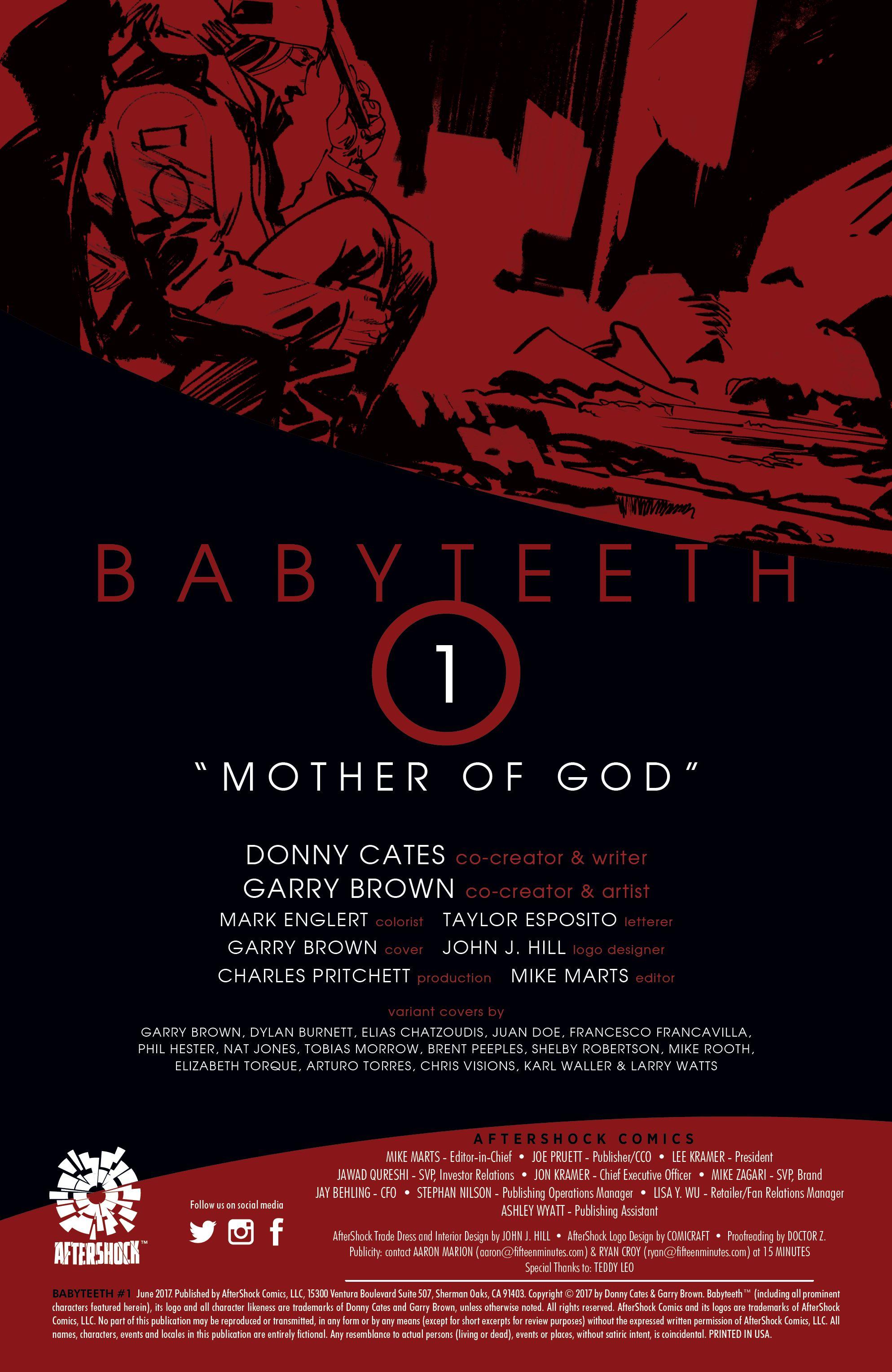 Read online Babyteeth comic -  Issue #1 - 2