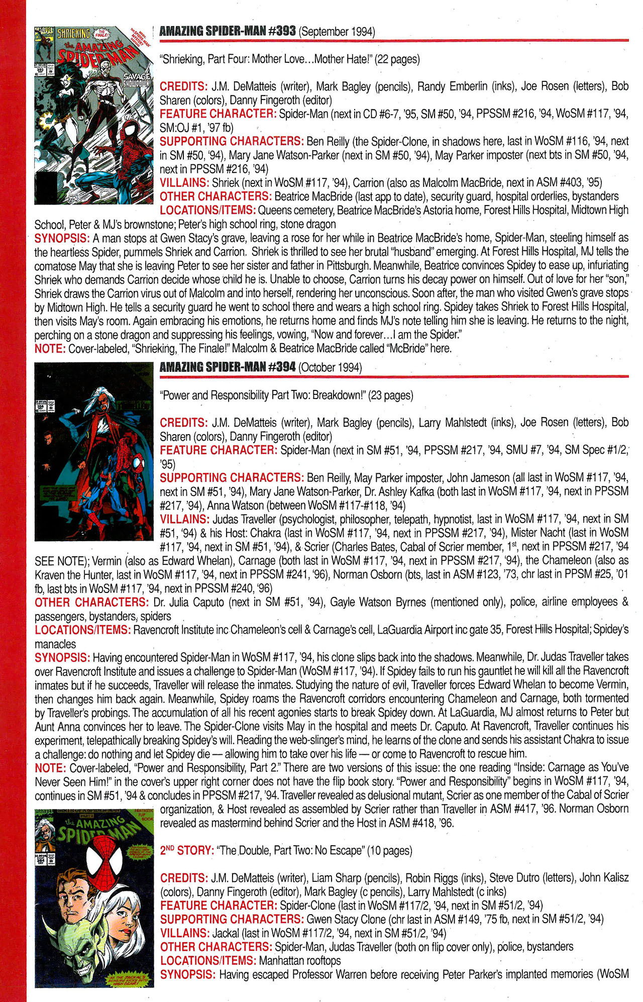 Read online Official Index to the Marvel Universe comic -  Issue #9 - 18