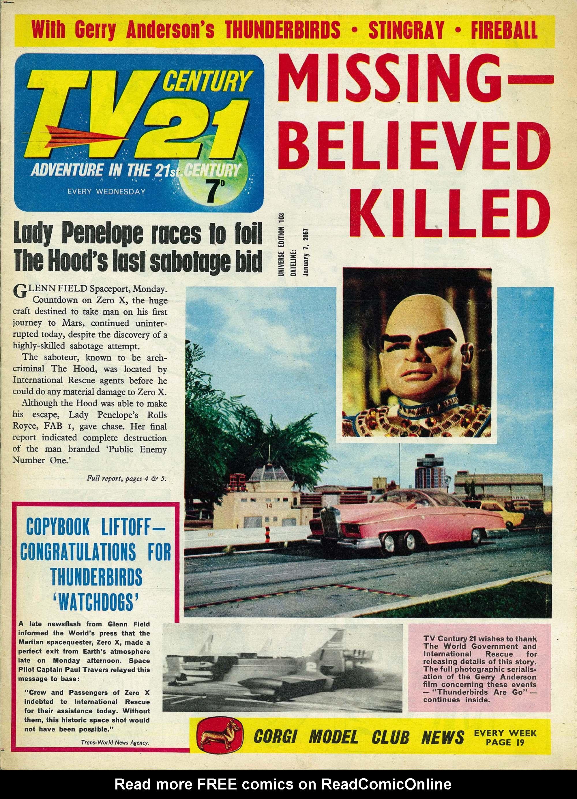 Read online TV Century 21 (TV 21) comic -  Issue #103 - 1