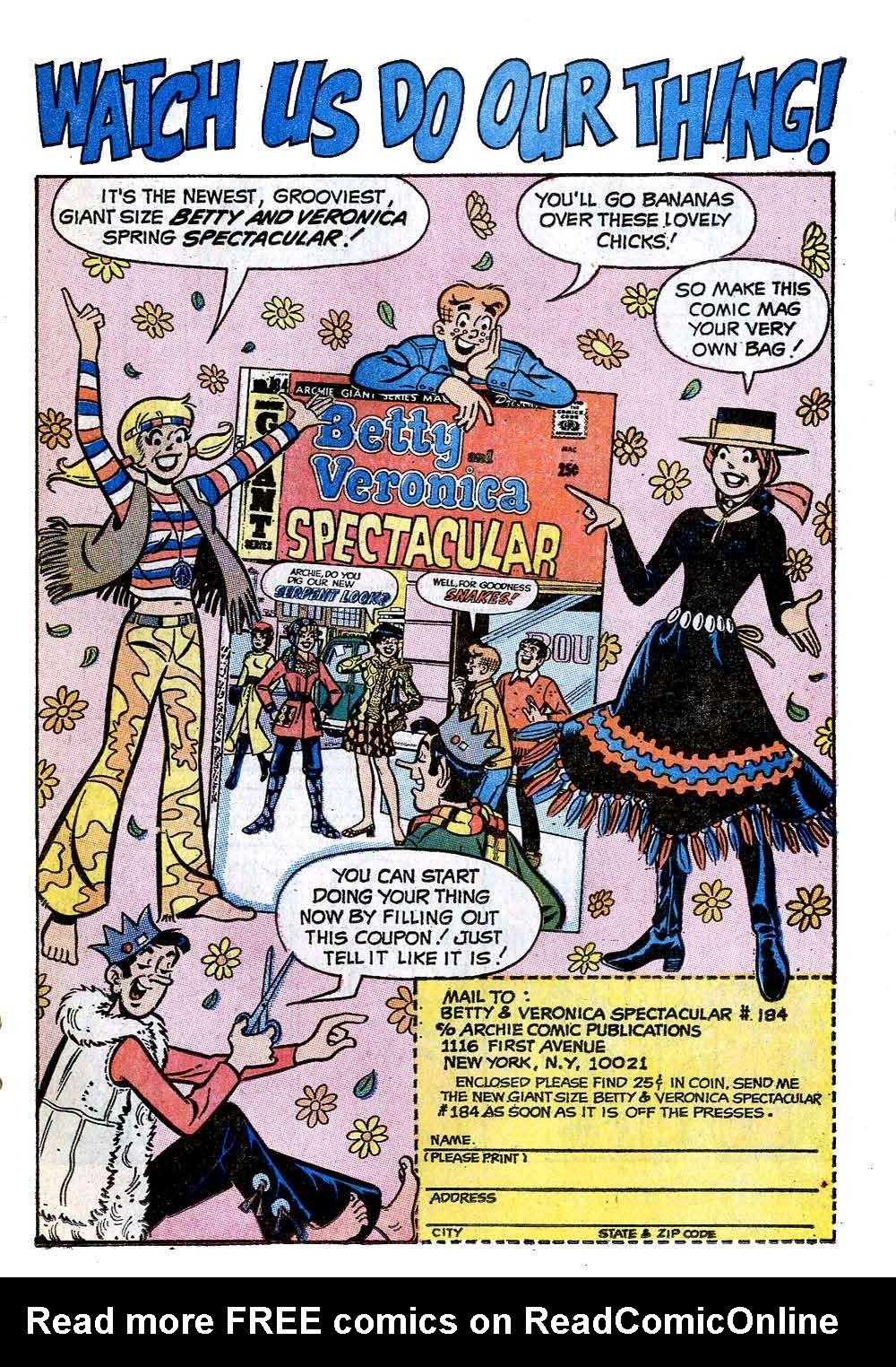 Read online Archie (1960) comic -  Issue #208 - 19