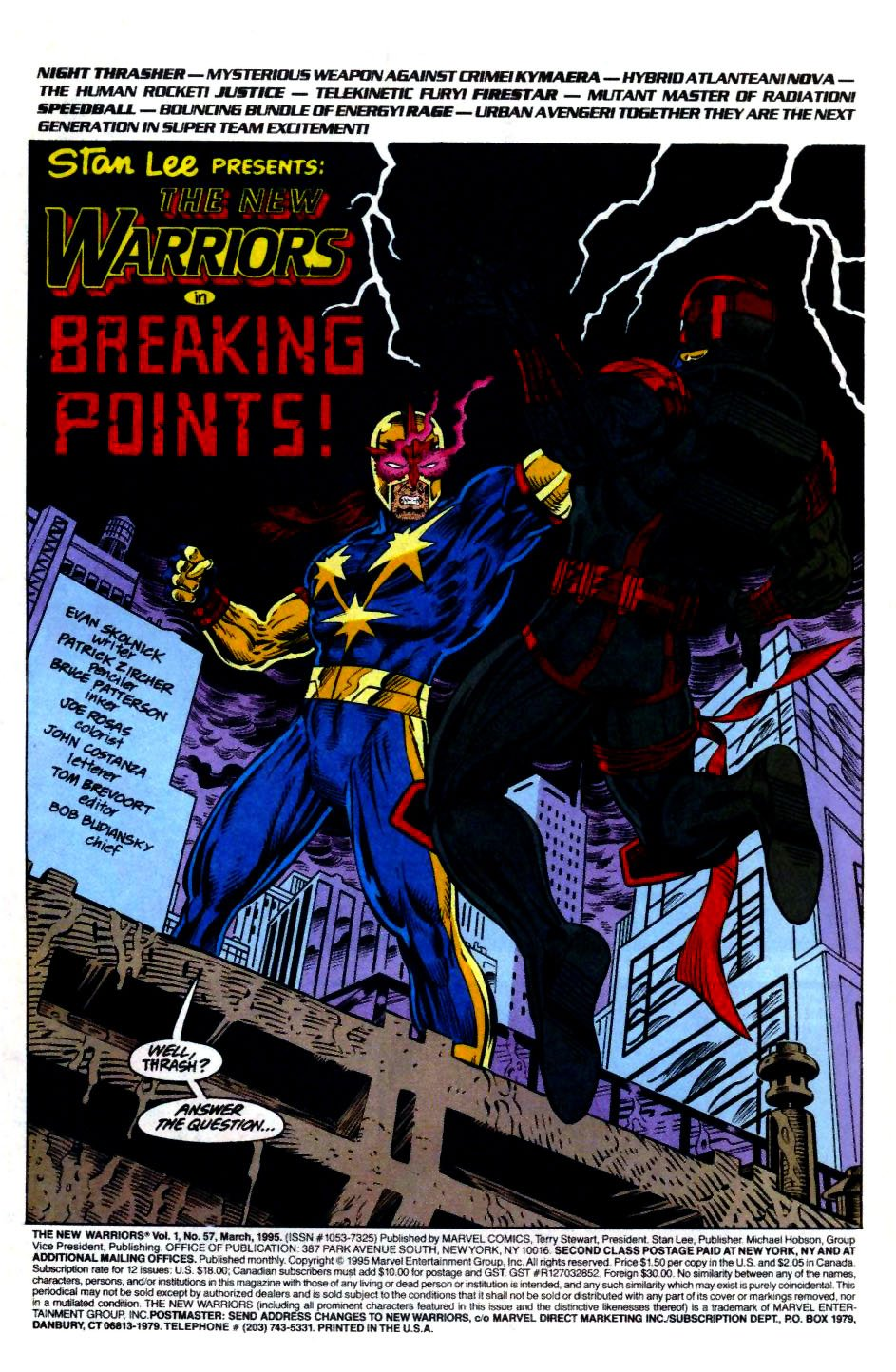 The New Warriors Issue #57 #61 - English 2