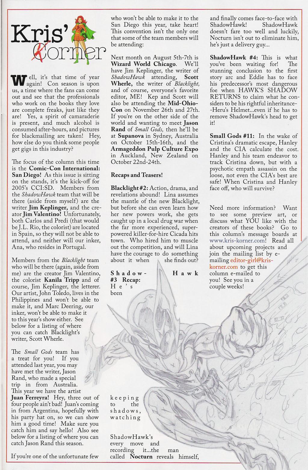 Read online ShadowHawk (2005) comic -  Issue #3 - 29