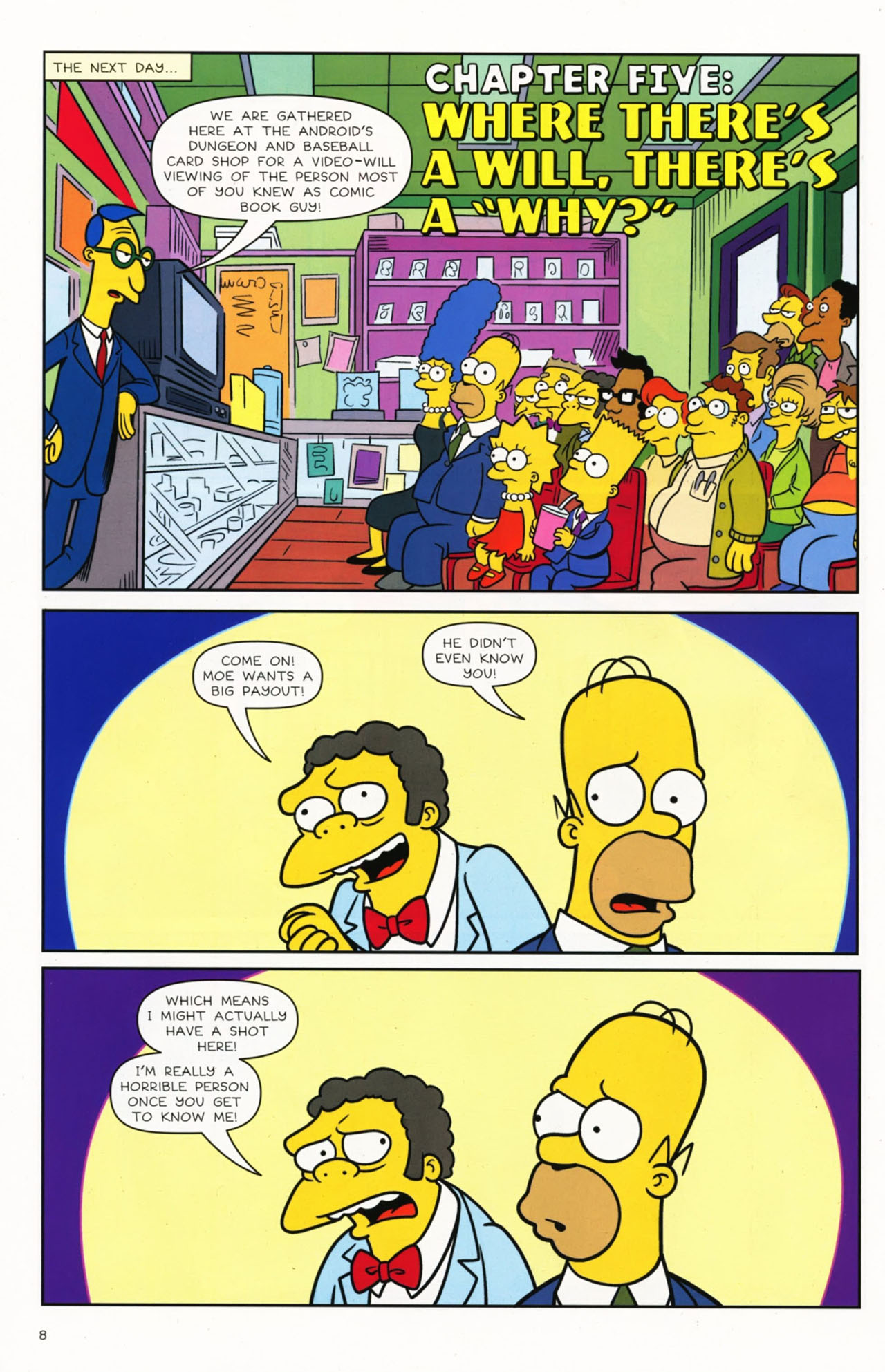 Read online Bongo Comics presents Comic Book Guy: The Comic Book comic -  Issue #2 - 10