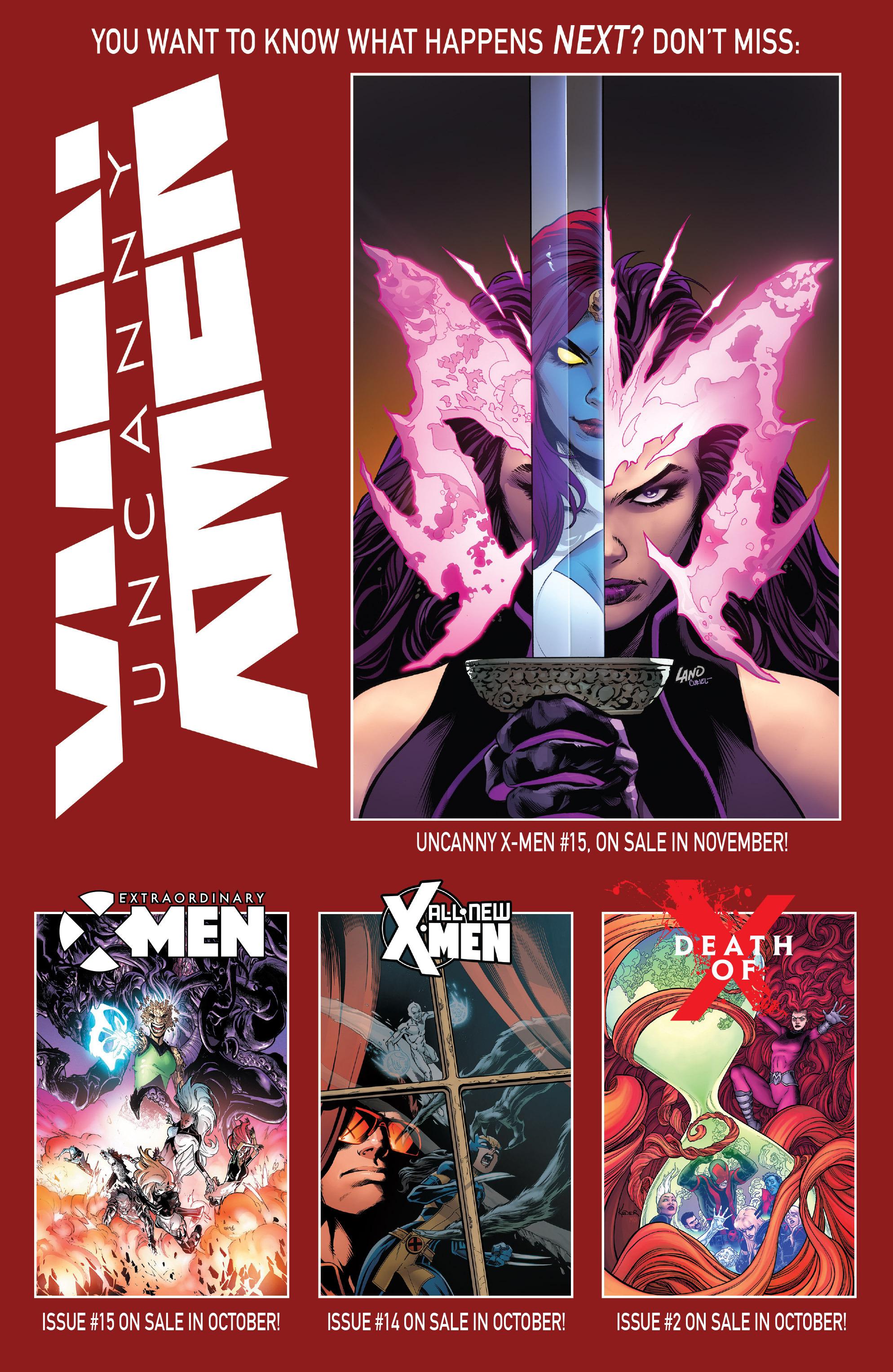 Read online Uncanny X-Men (2016) comic -  Issue #14 - 22