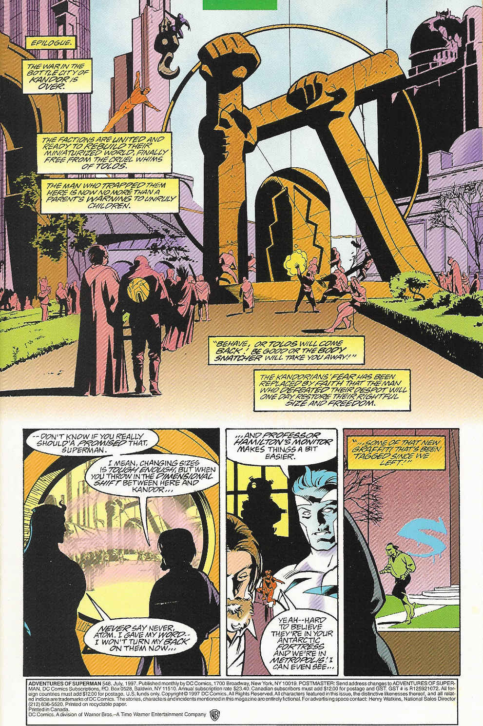 Read online Adventures of Superman (1987) comic -  Issue #548 - 2