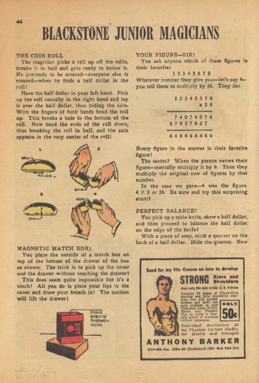 Read online Super-Magician Comics comic -  Issue #13 - 44