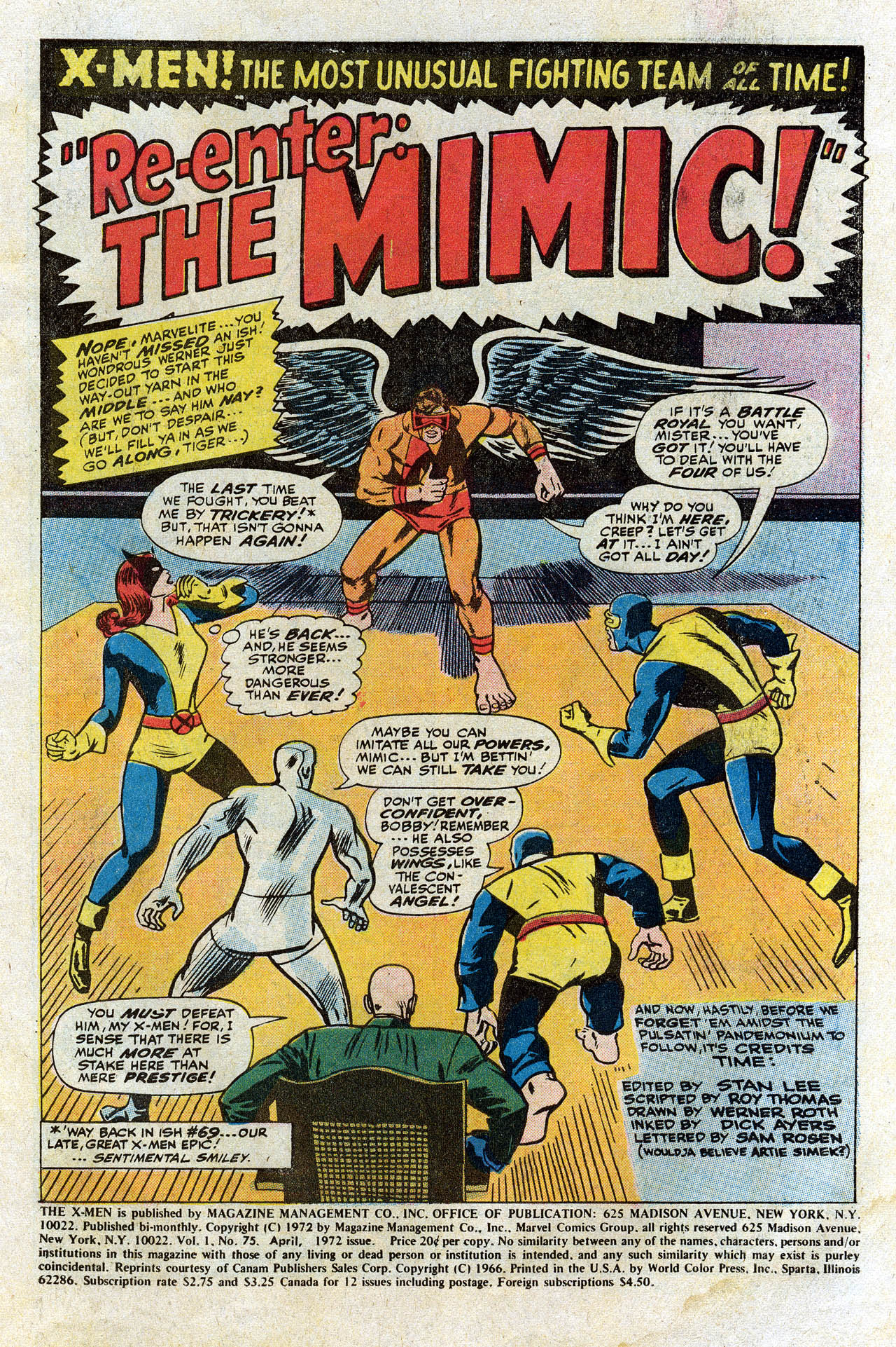 Read online Uncanny X-Men (1963) comic -  Issue #75 - 3
