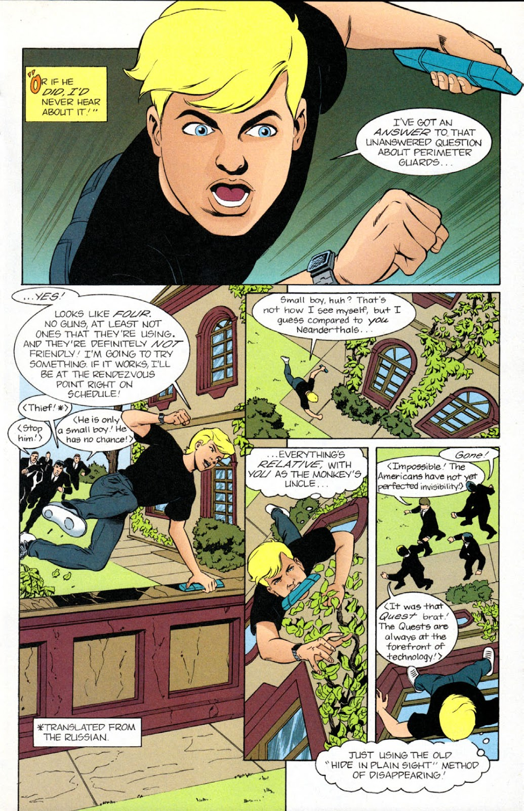 Read online The Real Adventures of Jonny Quest comic -  Issue #9 - 13