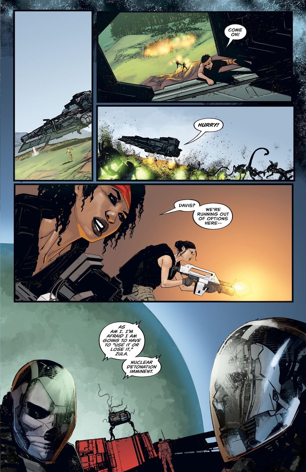 Read online Aliens: Resistance comic -  Issue #4 - 17
