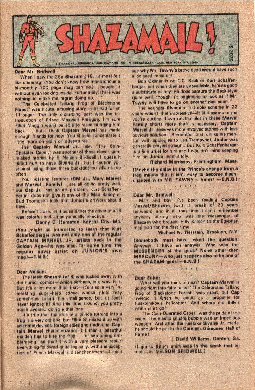 Read online Shazam! (1973) comic -  Issue #20 - 31