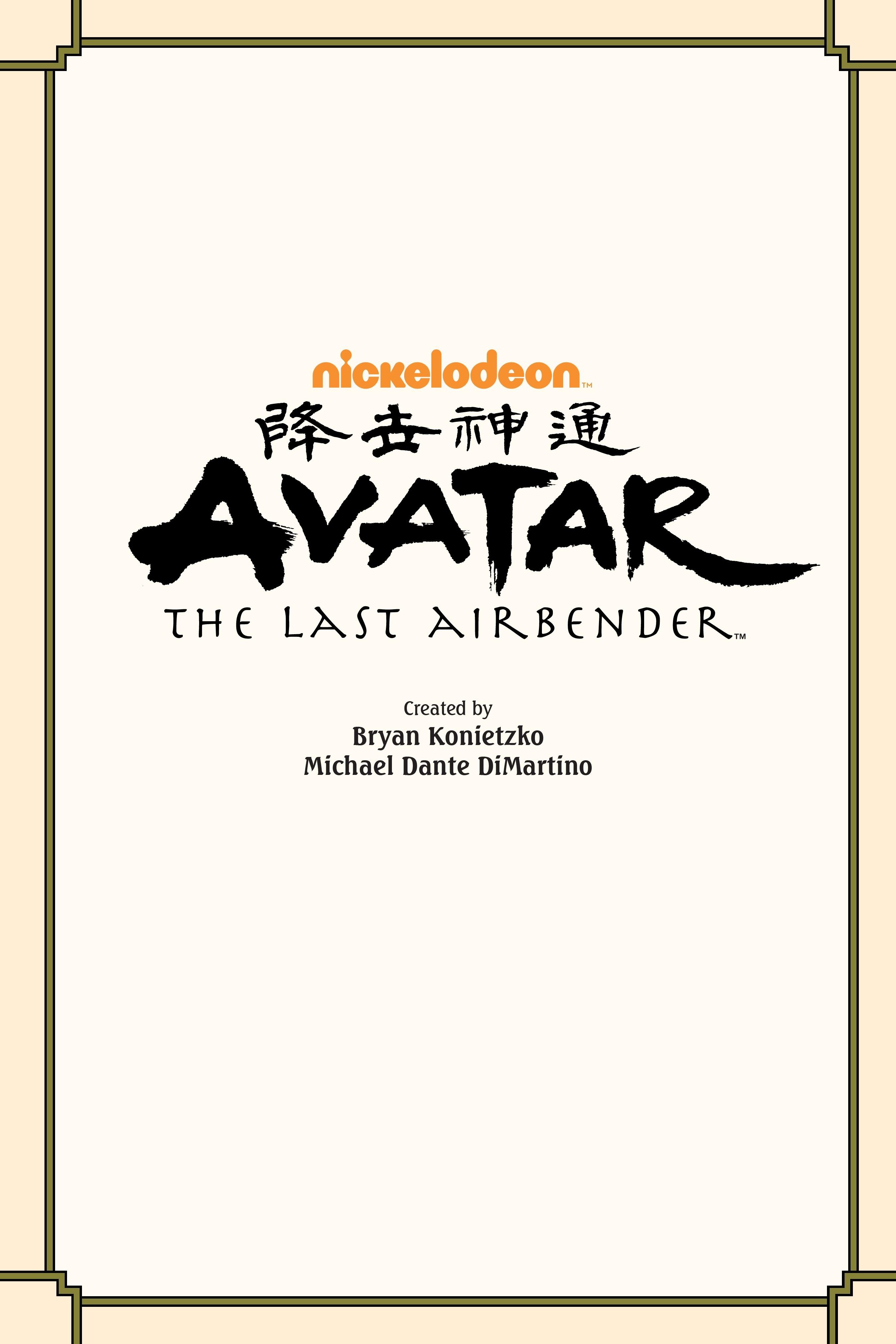 Nickelodeon Avatar: The Last Airbender - Imbalance TPB_2 Page 1