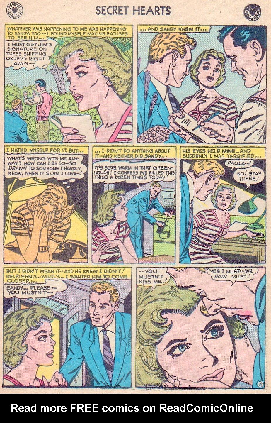 Read online Secret Hearts comic -  Issue #44 - 21