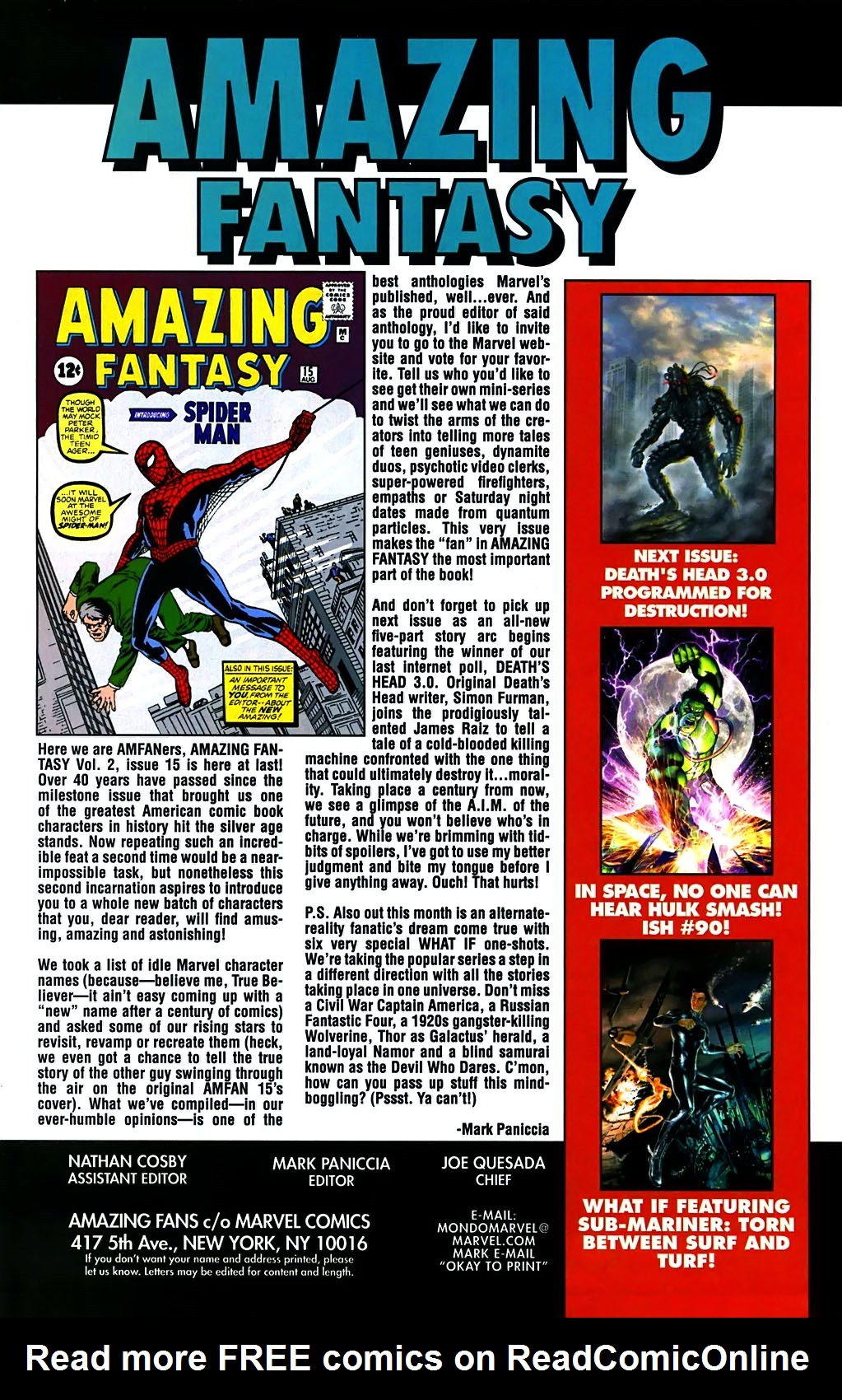 Read online Amazing Fantasy (2004) comic -  Issue #15 - 53