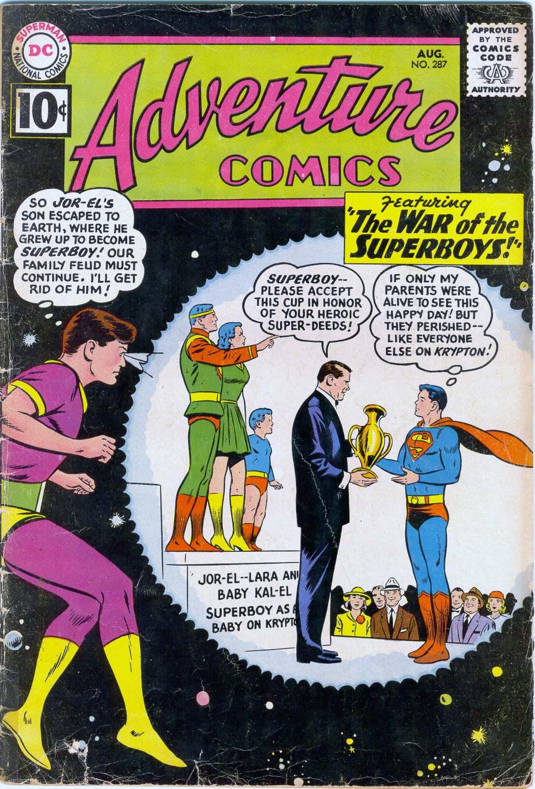 Read online Adventure Comics (1938) comic -  Issue #287 - 1