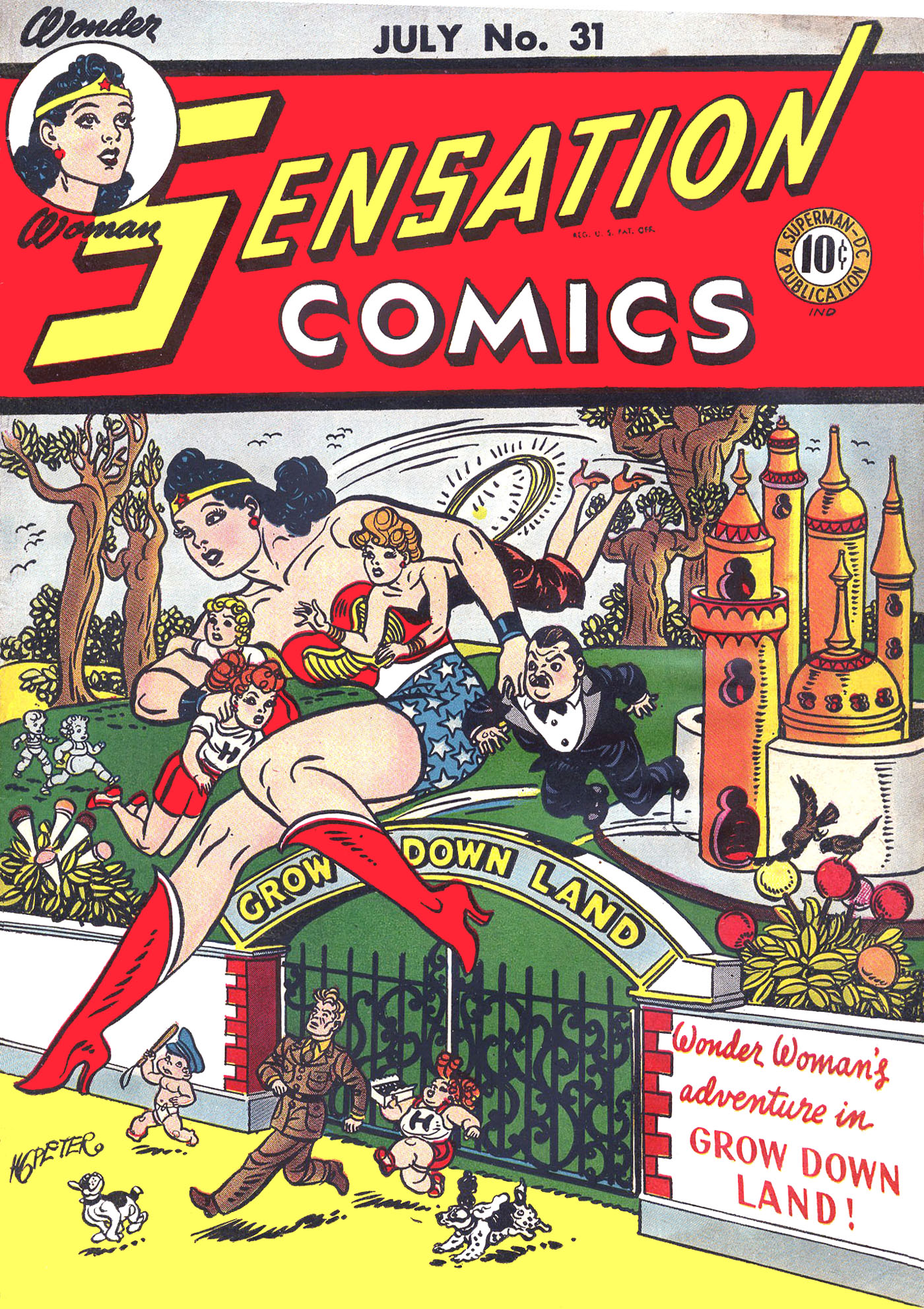 Read online Sensation (Mystery) Comics comic -  Issue #31 - 1