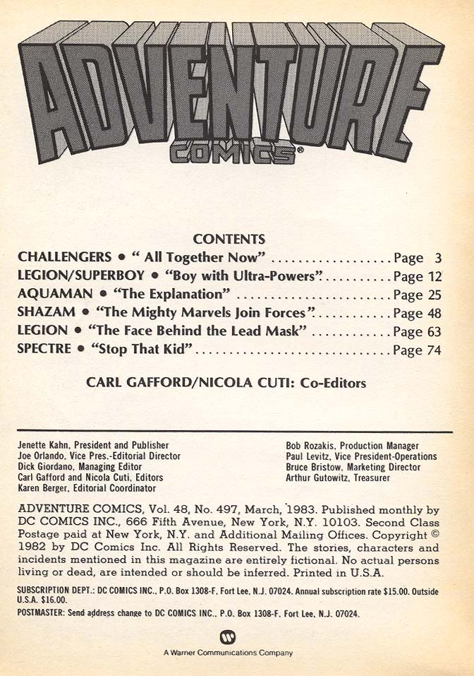 Read online Adventure Comics (1938) comic -  Issue #497 - 2