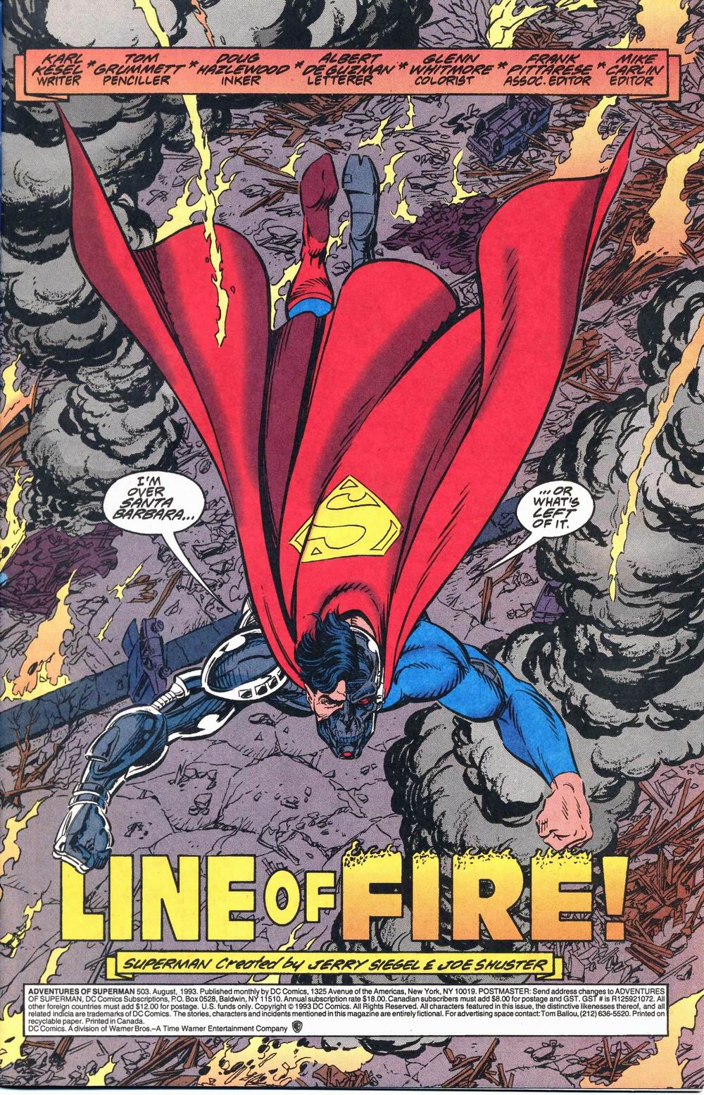 Read online Adventures of Superman (1987) comic -  Issue #503 - 2