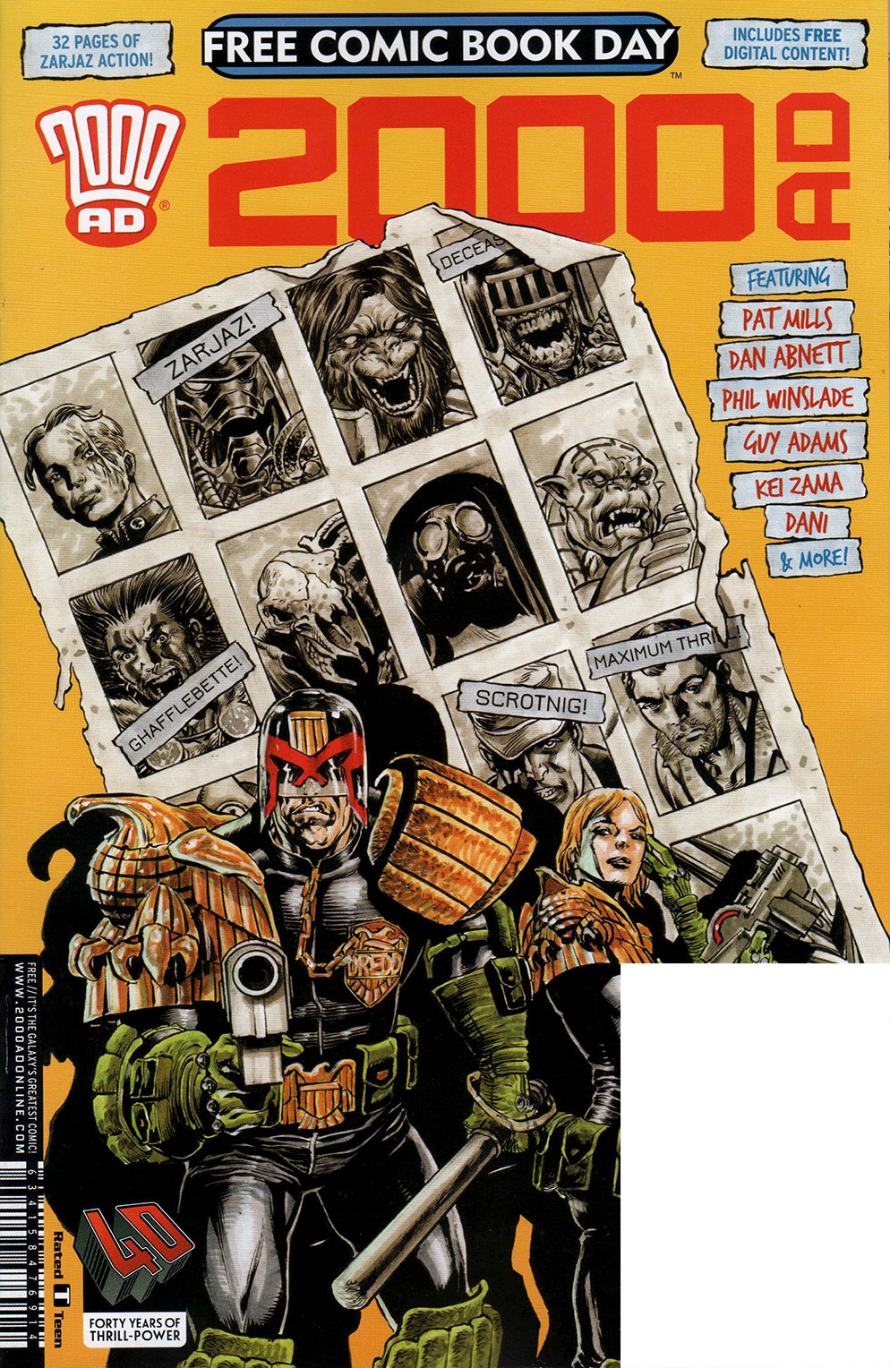 Read online Free Comic Book Day 2017 comic -  Issue # 2000 AD prog - 1