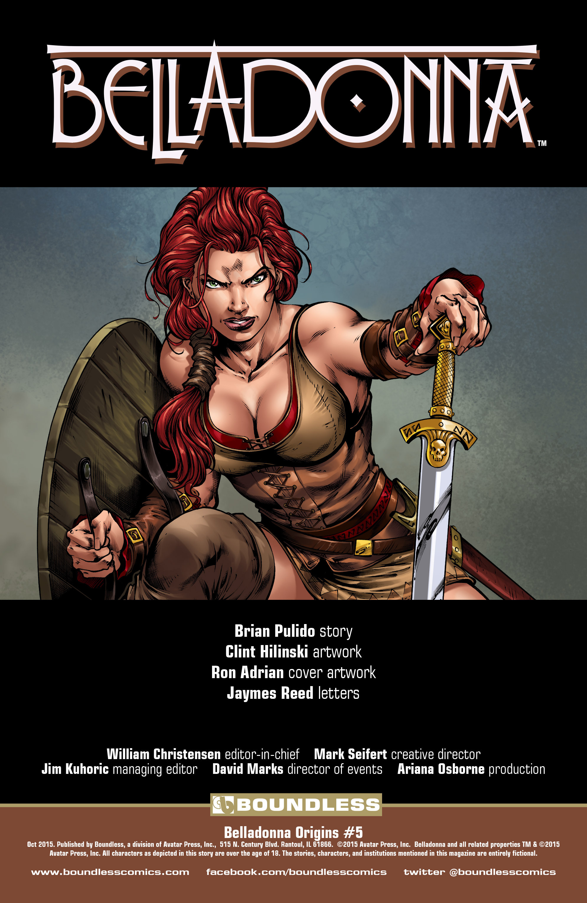 Read online Belladonna: Origins comic -  Issue #5 - 2