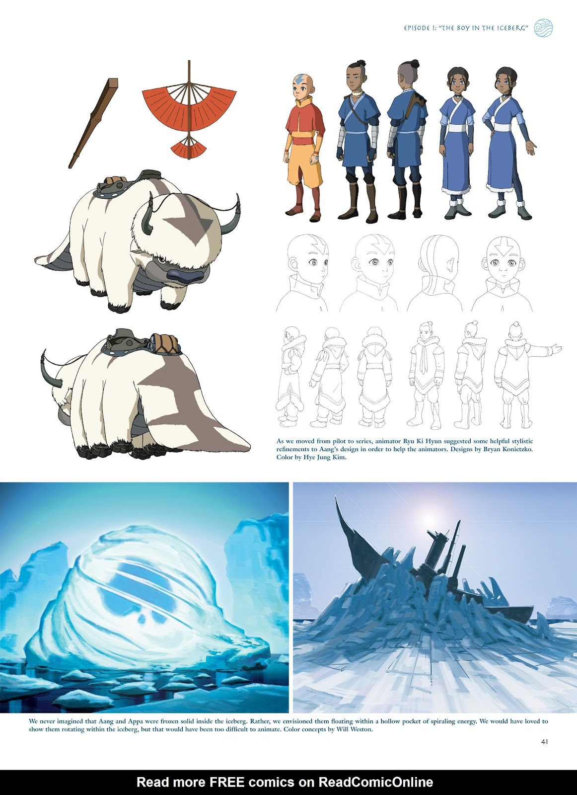 Read online Avatar: The Last Airbender - The Art of the Animated Series comic -  Issue # TPB (Part 1) - 42