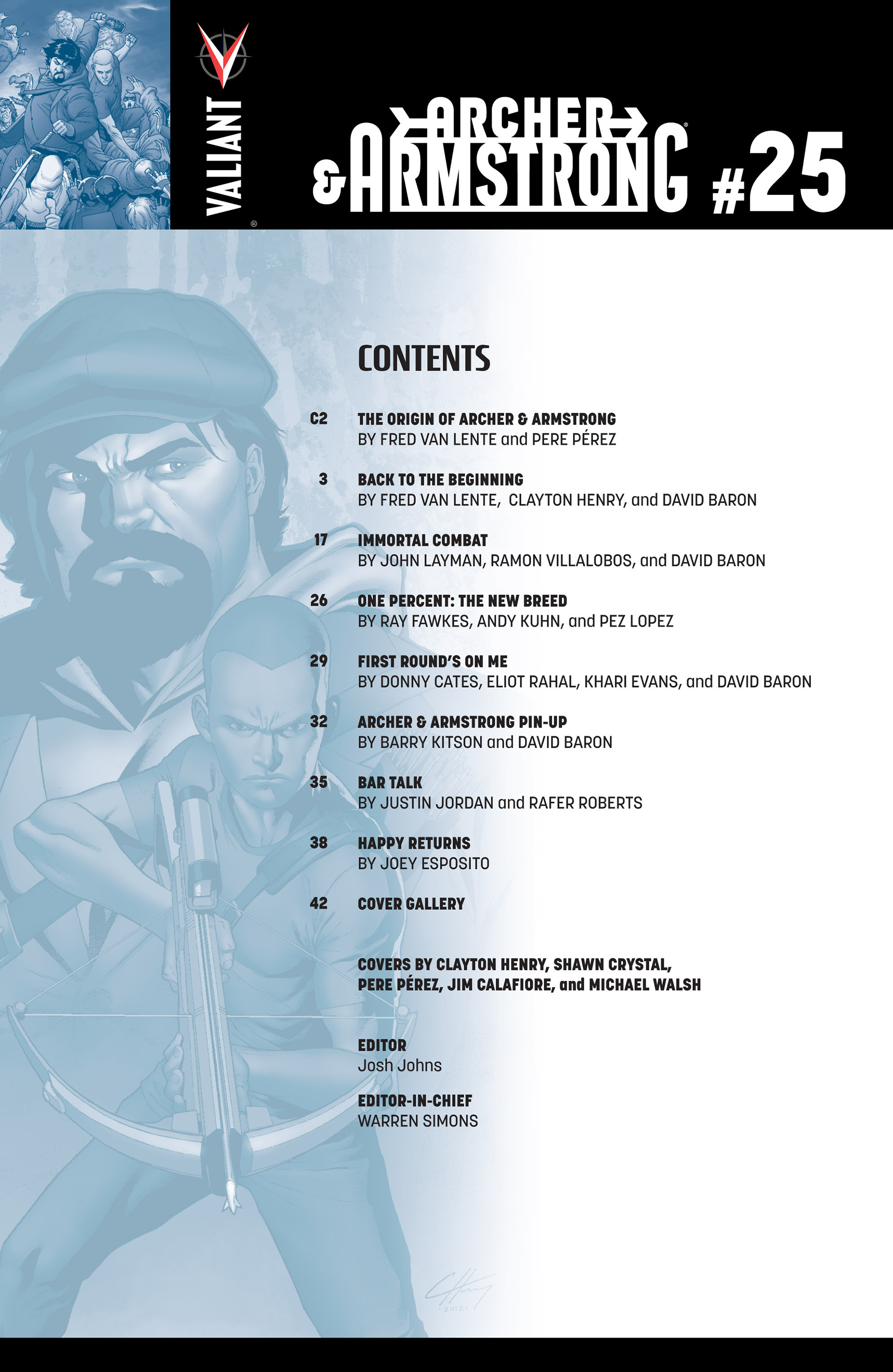 Read online Archer and Armstrong comic -  Issue #25 - 3