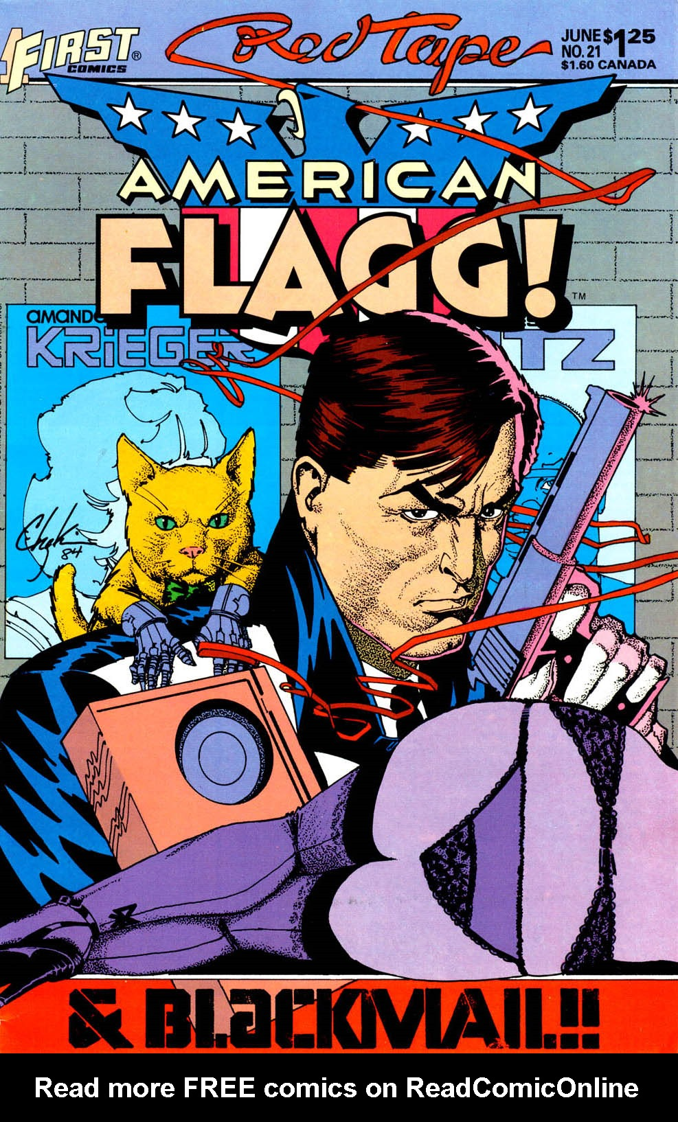 Read online American Flagg! comic -  Issue #21 - 1