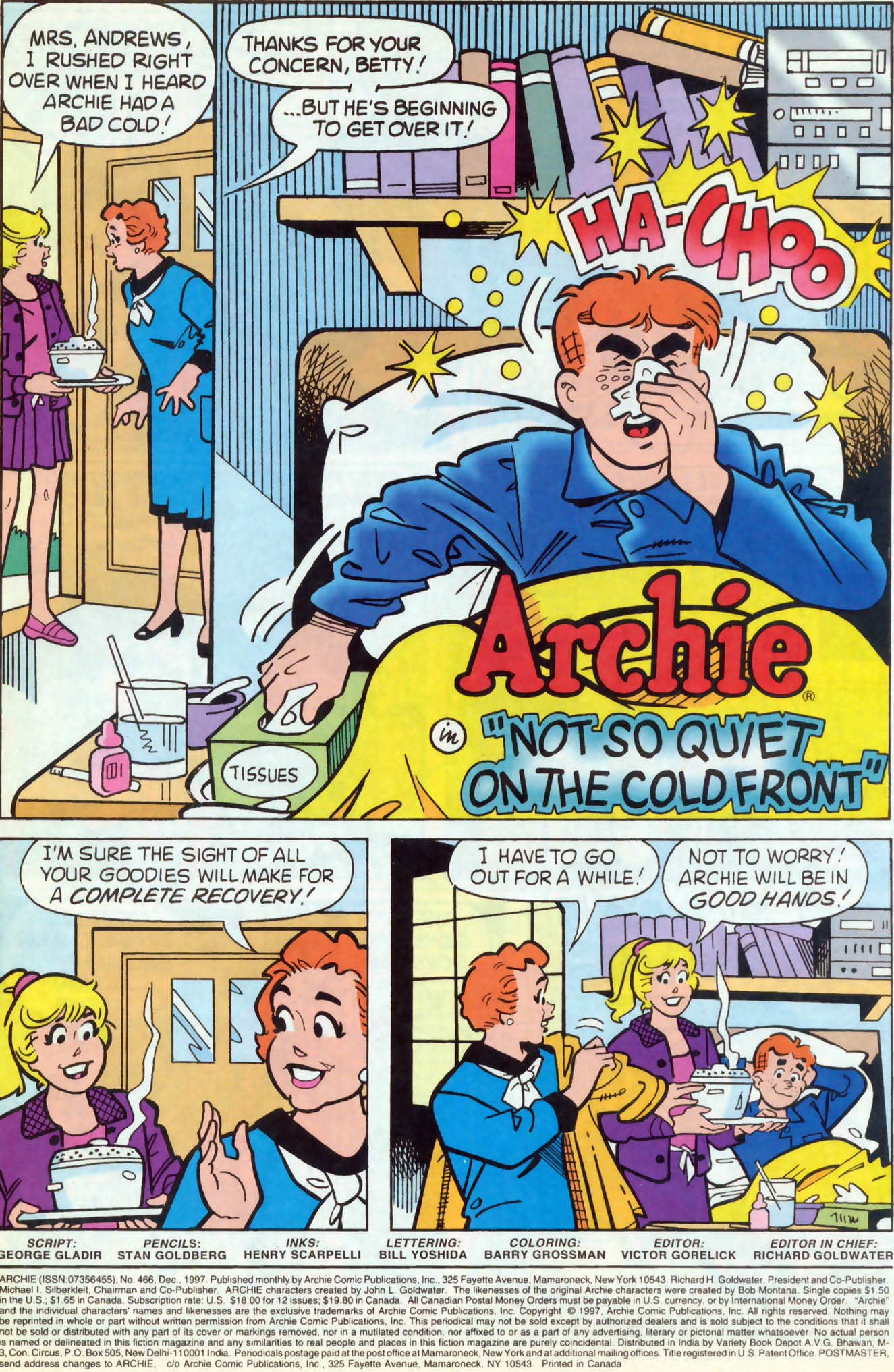 Read online Archie (1960) comic -  Issue #466 - 2