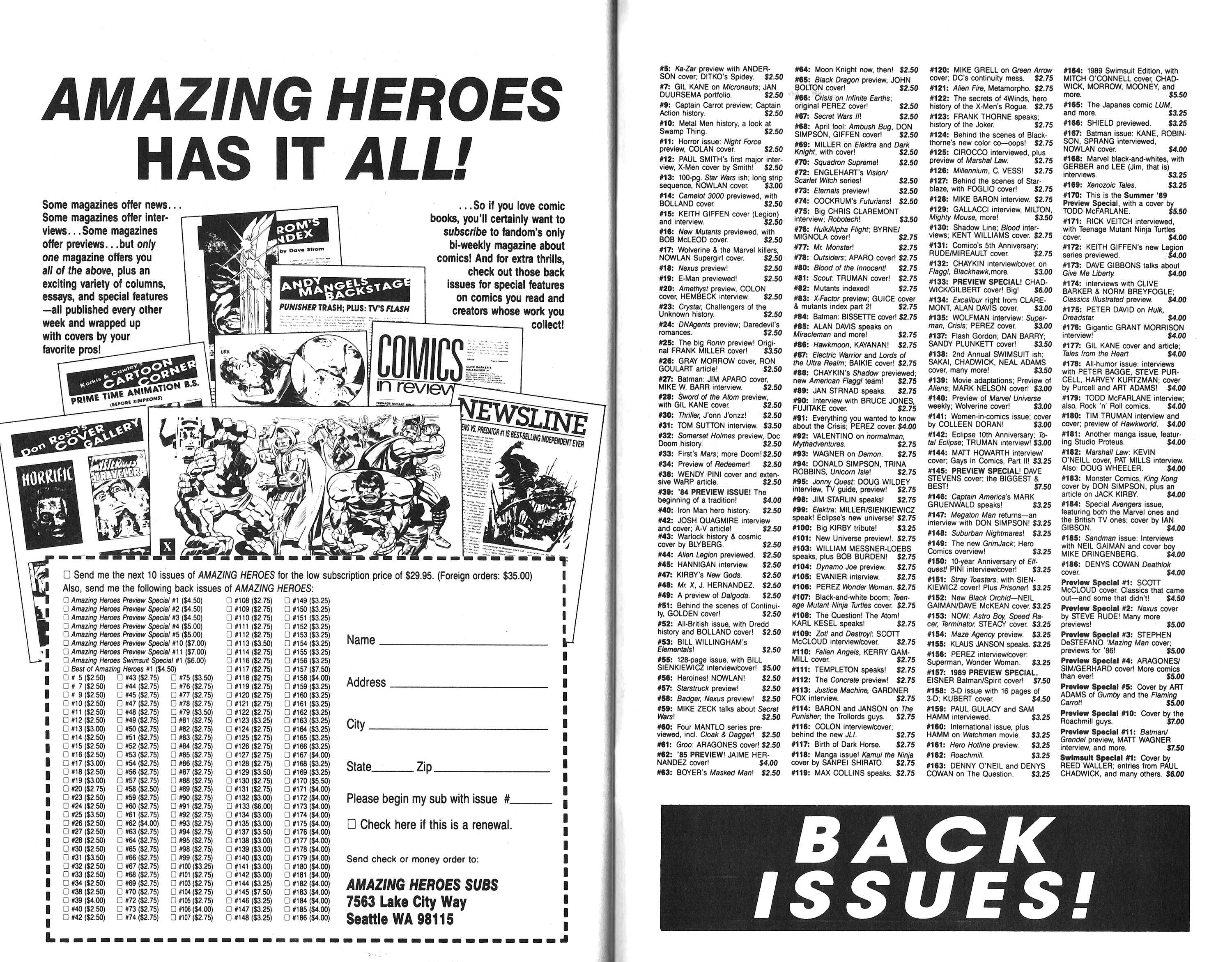 Read online Amazing Heroes comic -  Issue #192 - 43