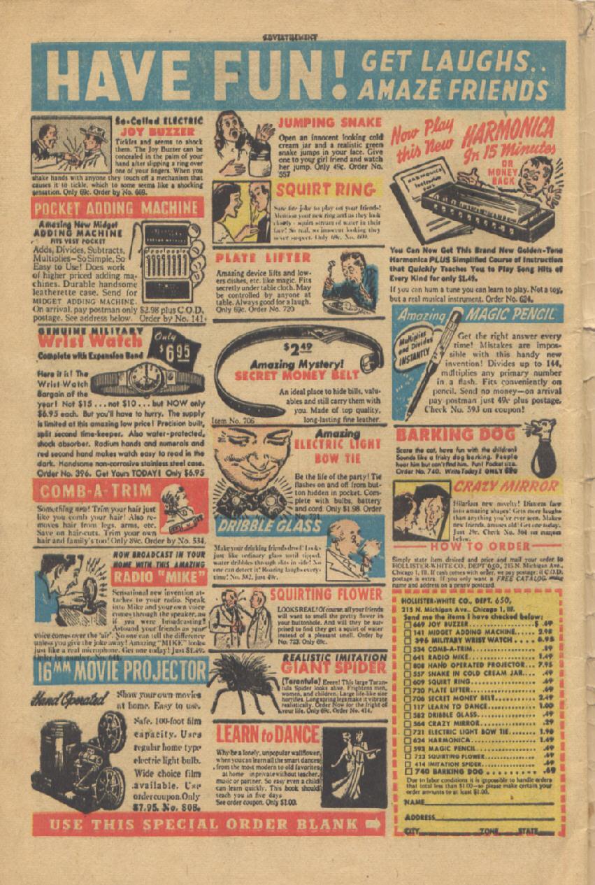 Read online Shadow Comics comic -  Issue #95 - 50