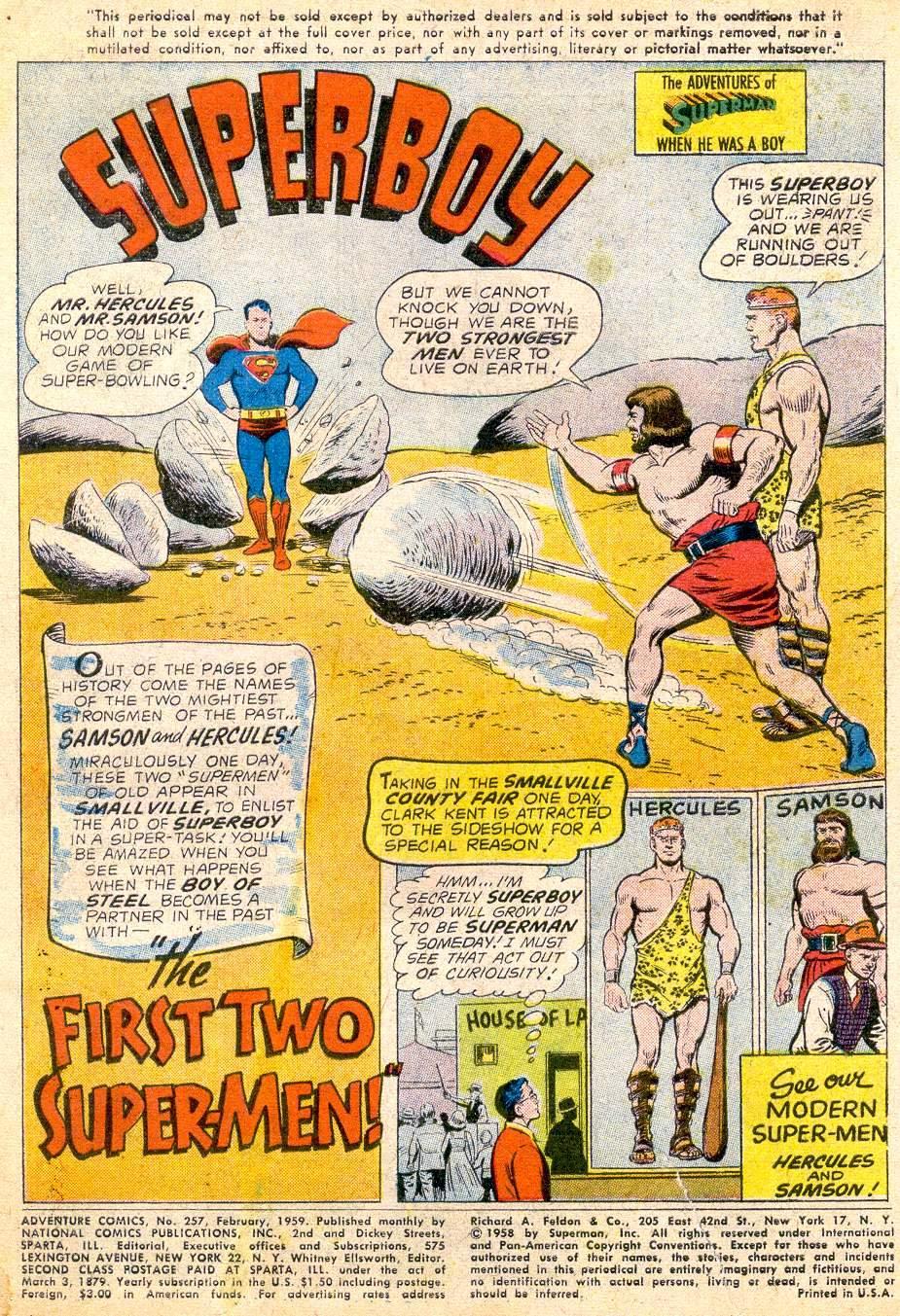 Read online Adventure Comics (1938) comic -  Issue #257 - 3