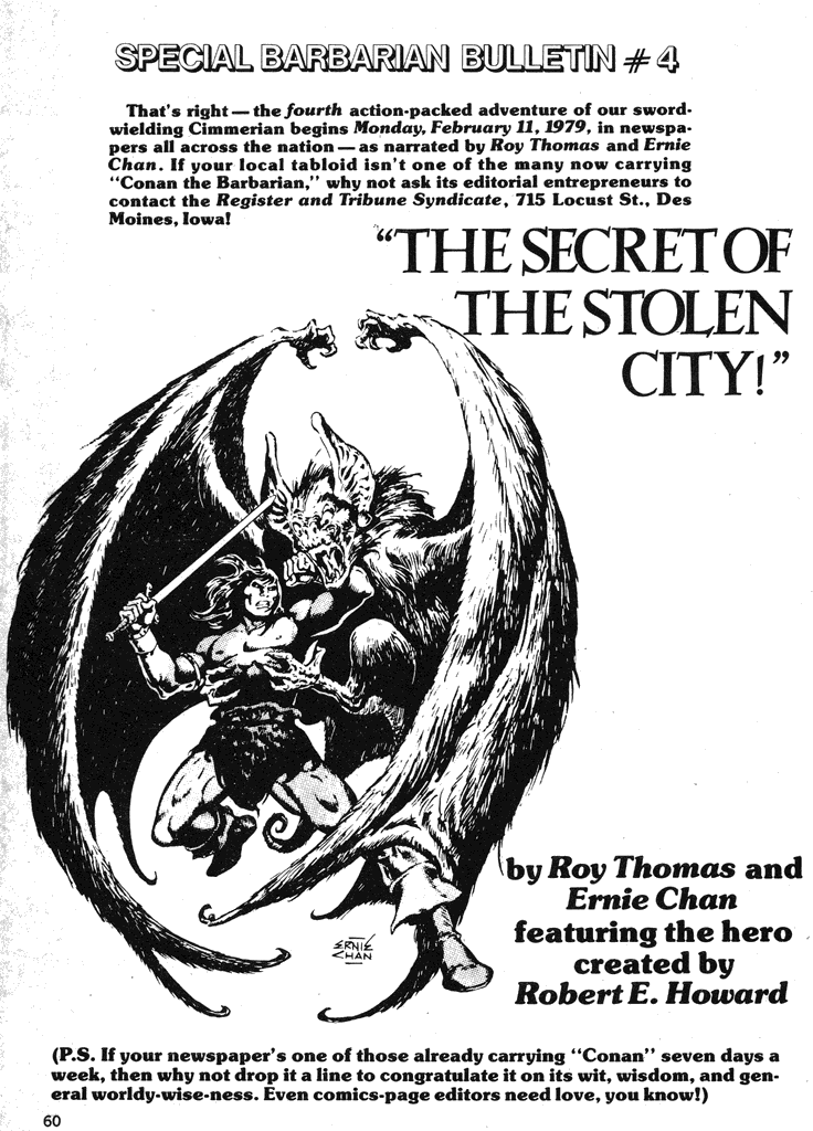 Comic The Savage Sword Of Conan issue 40
